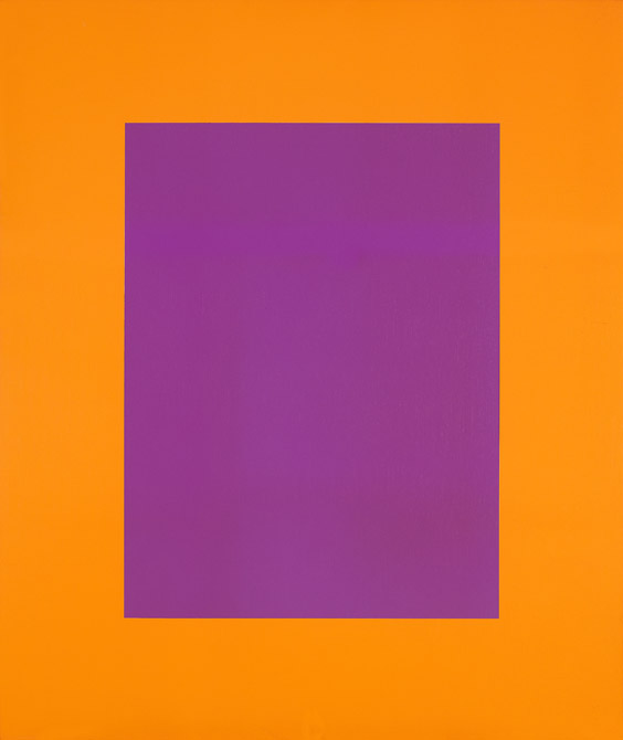 Karl Benjamin:  #30, 1975,oil on canvas, 48 x 40 inches