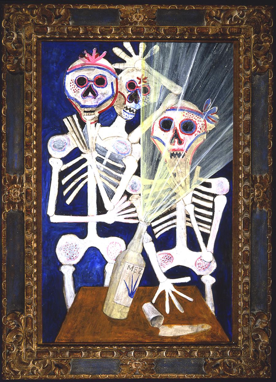 El Dia De Los Muertos, 1984, acrylic and mixed media on canvas, 39 x 26 inches; 99 x 66 centimeters