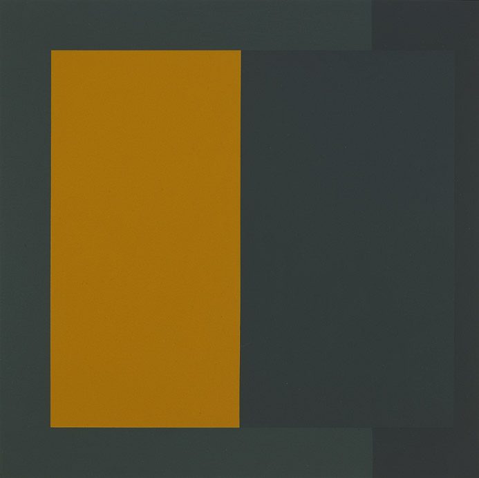 Richard Wilson, Takkakan Study, 1988, acrylic on paper, 15 x 15 inches; 38.1 x 38.1 centimeters