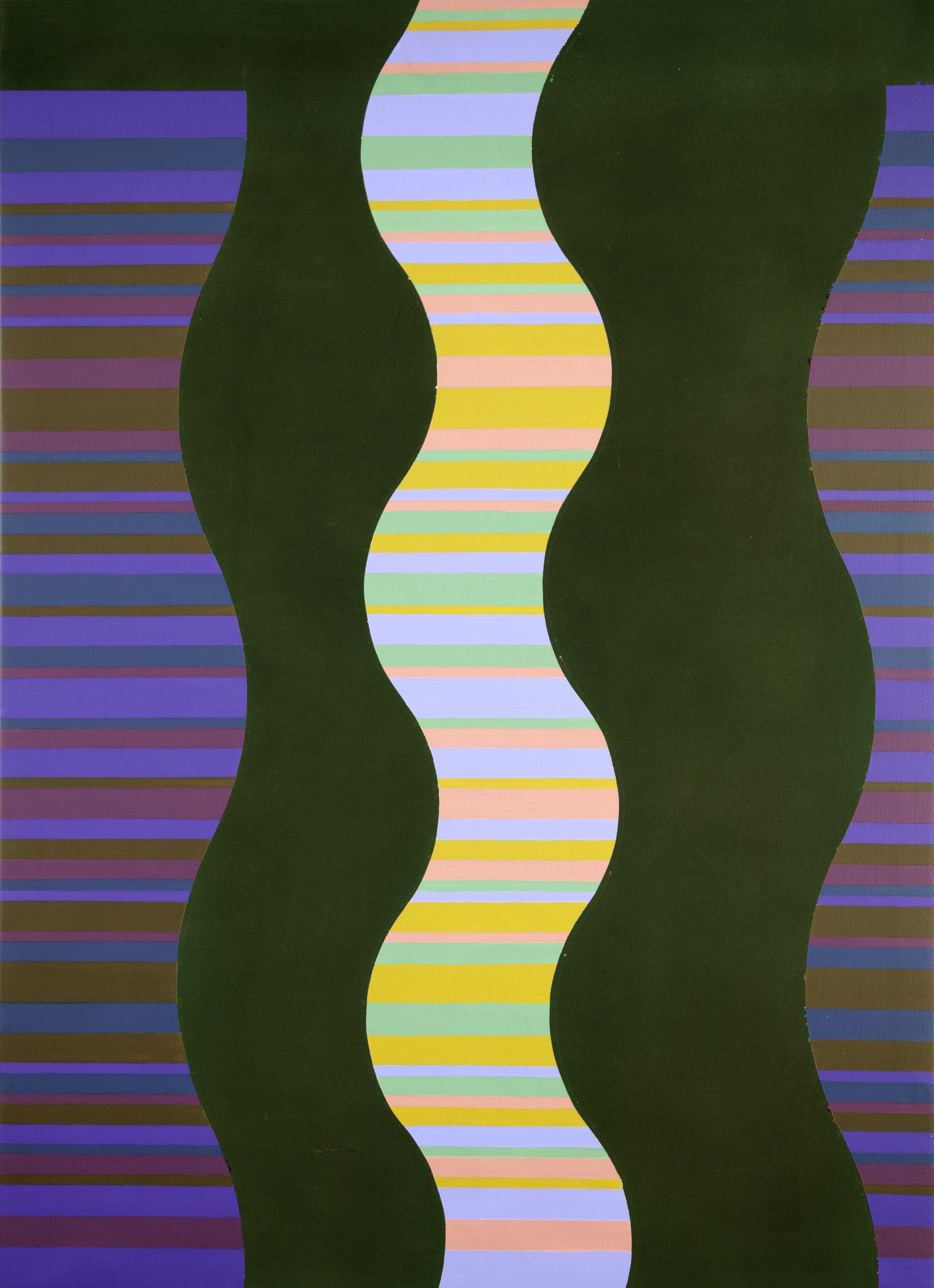 Michael Kidner (1917–2009)   Green (For Grabowski) , 1968 acrylic on cotton duck  66 1/4 x 48 in. (168.3 x 121.9 cm) LSFA# 14066