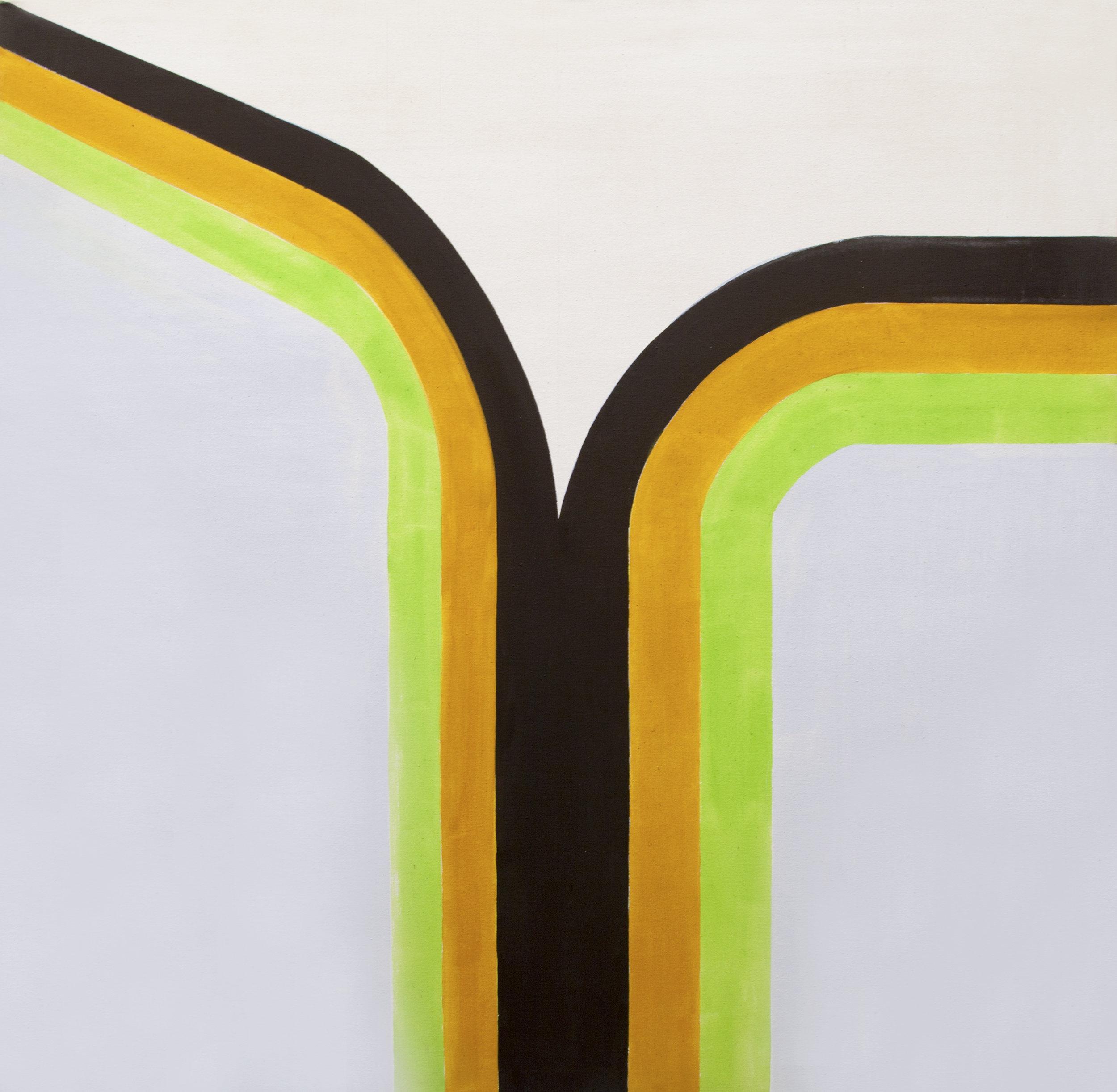 Richard Smith (1931–2016)   Four Corners 4 , 1965 acrylic on canvas  48 1/4 x 48 1/8 in. (122.6 x 122.2 cm) LSFA# 14073