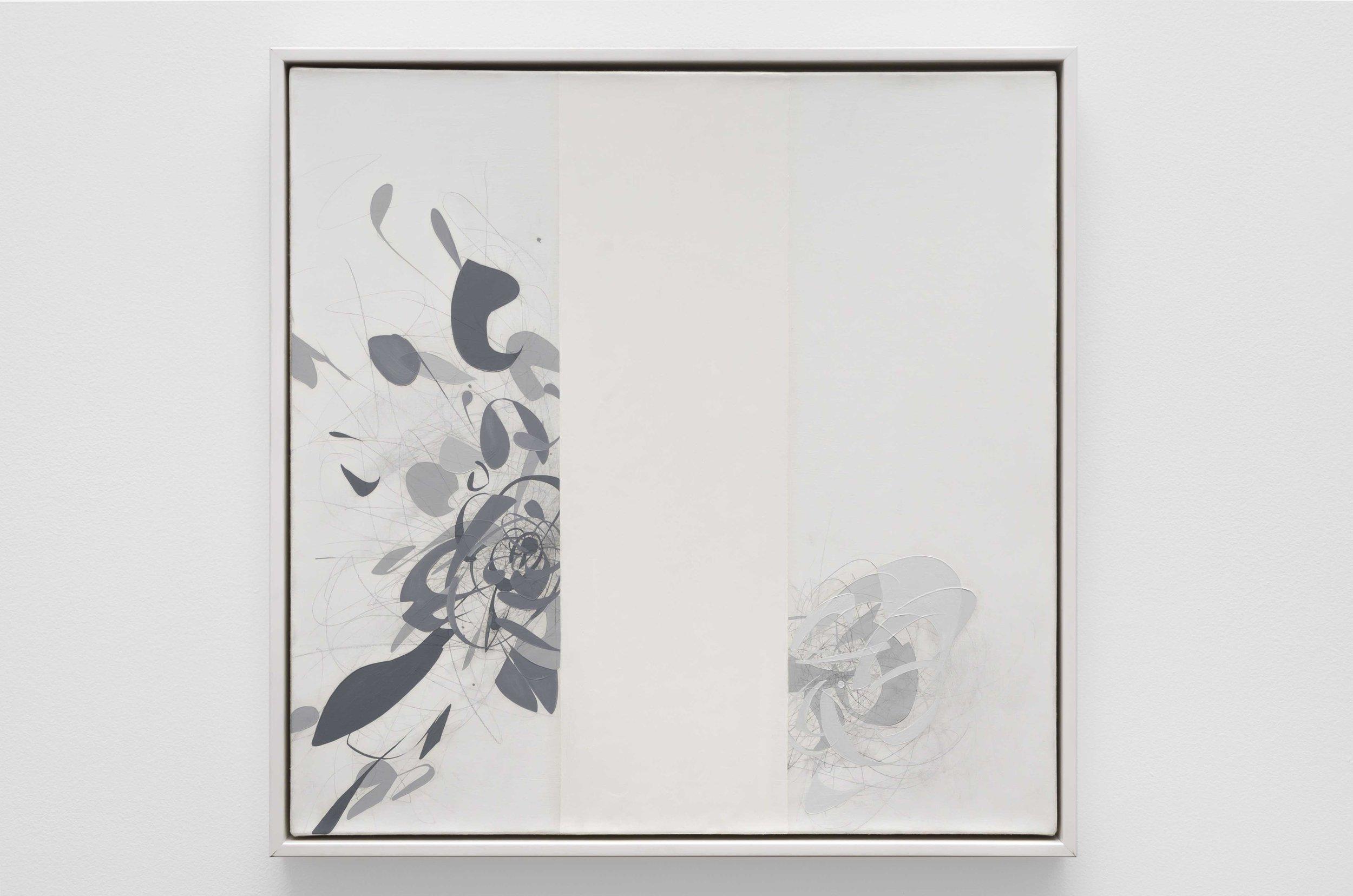 Seann Brackin (b. 1976)   Future Vision , 2018  oil and graphite on canvas  20 x 20 inches; 50.8 x 50.8 centimeters
