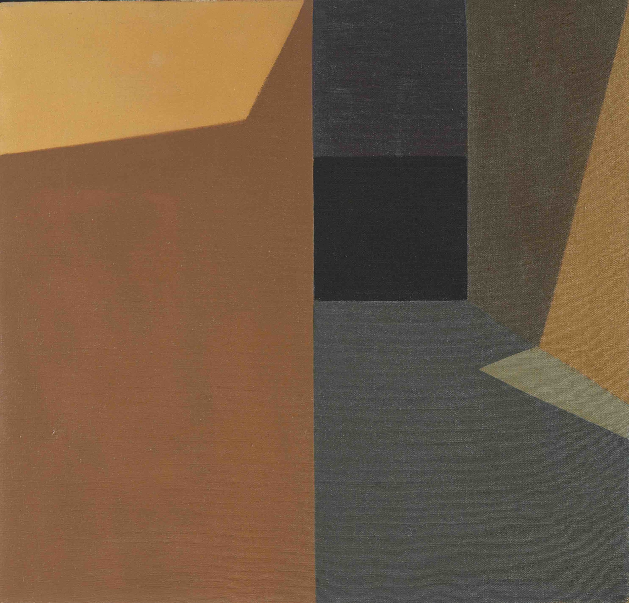 Helen Lundeberg (1908-1999)   Dark Corridor , 1959  oil on canvas 20 x 21 inches; 50.8 x 53.3 centimeters