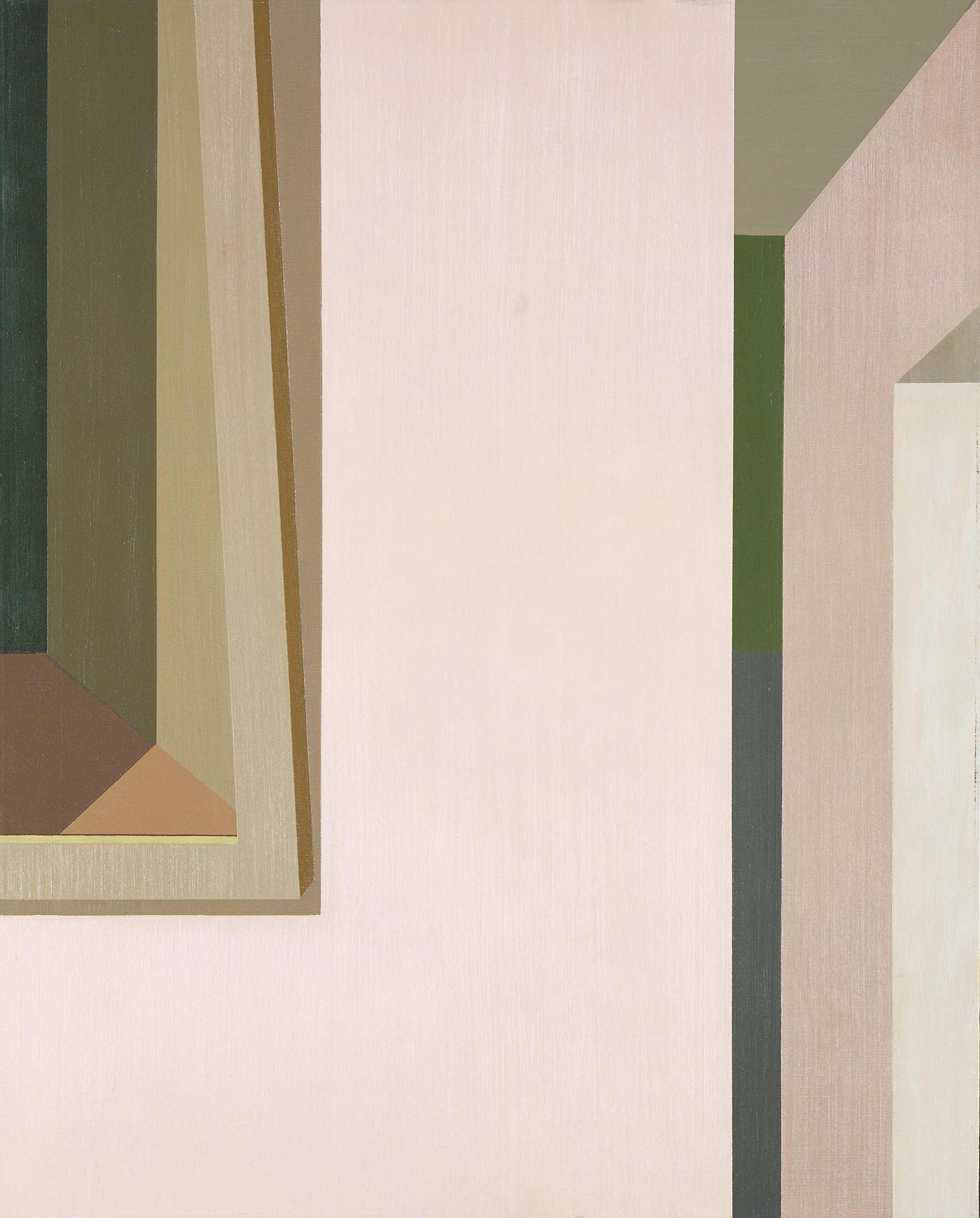 Helen Lundeberg (1908-1999)   Untitled (Interior with Doorway) , 1962  oil on canvas 30 x 24 inches; 76.2 x 61 centimeters