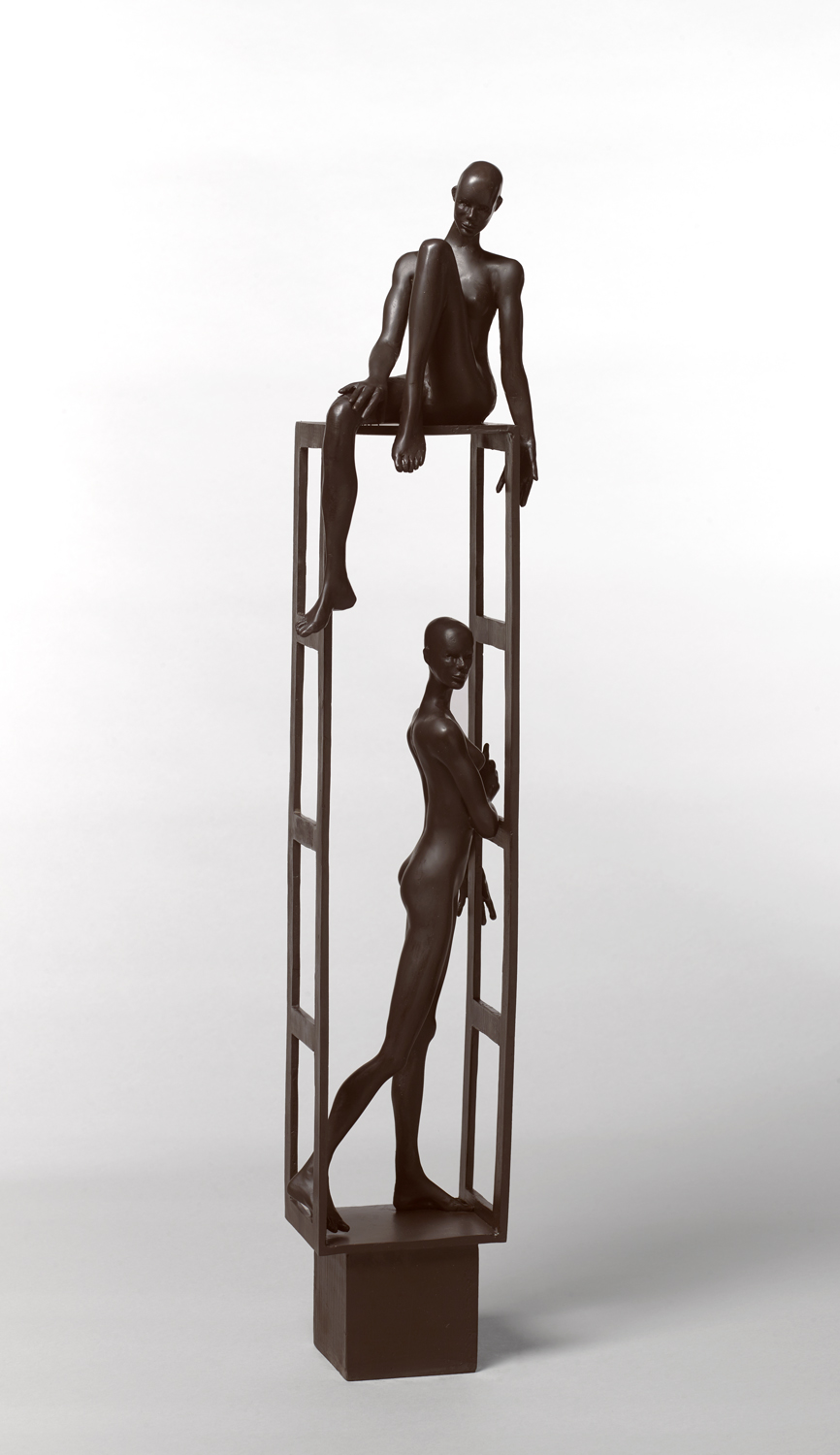 Estructura 1 , 2019 bronze 29 3/4 x 5 1/2 x 5 inches;  75.6 x 14 x 12.7 centimeters