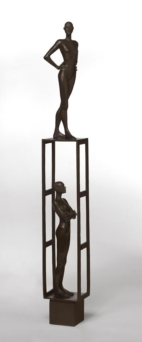 Estructura 3 ,   2019 bronze 38 x 5 1/2 x 5 inches; 96.5 x 14 x 12.7 centimeters