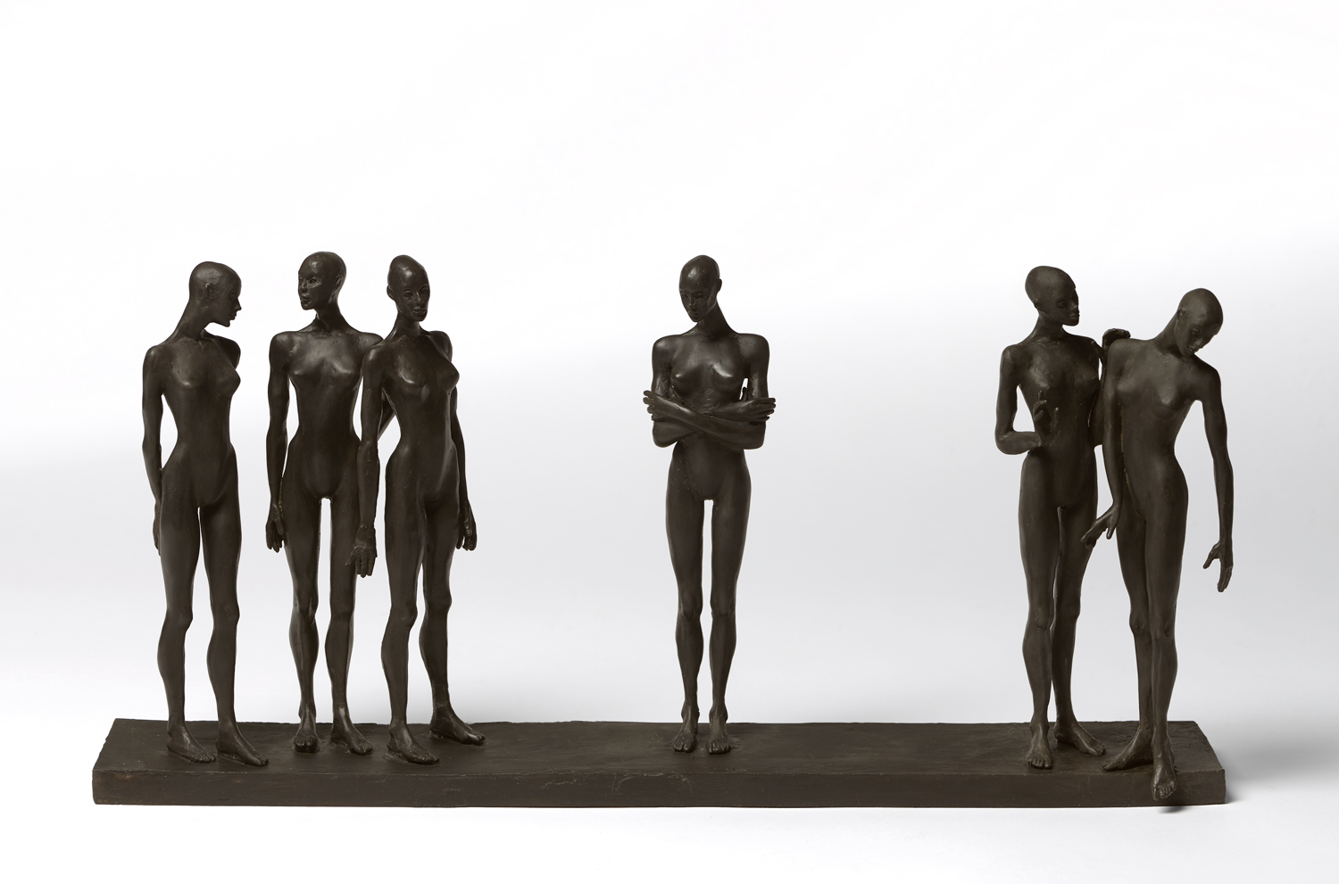 An Interesting Story , 2019 bronze  11 1/2 x 24 x 5 inches; 29.2 x 61 x 12.7 centimeters