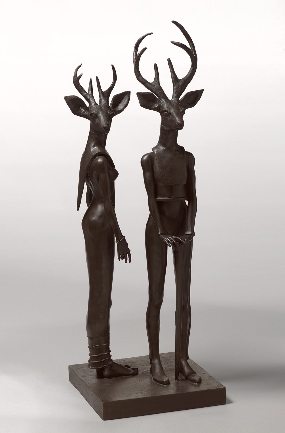 Venados,  2019 bronze 41 x 14 x 14 inches; 104.1 x 35.6 x 35.6 centimeters
