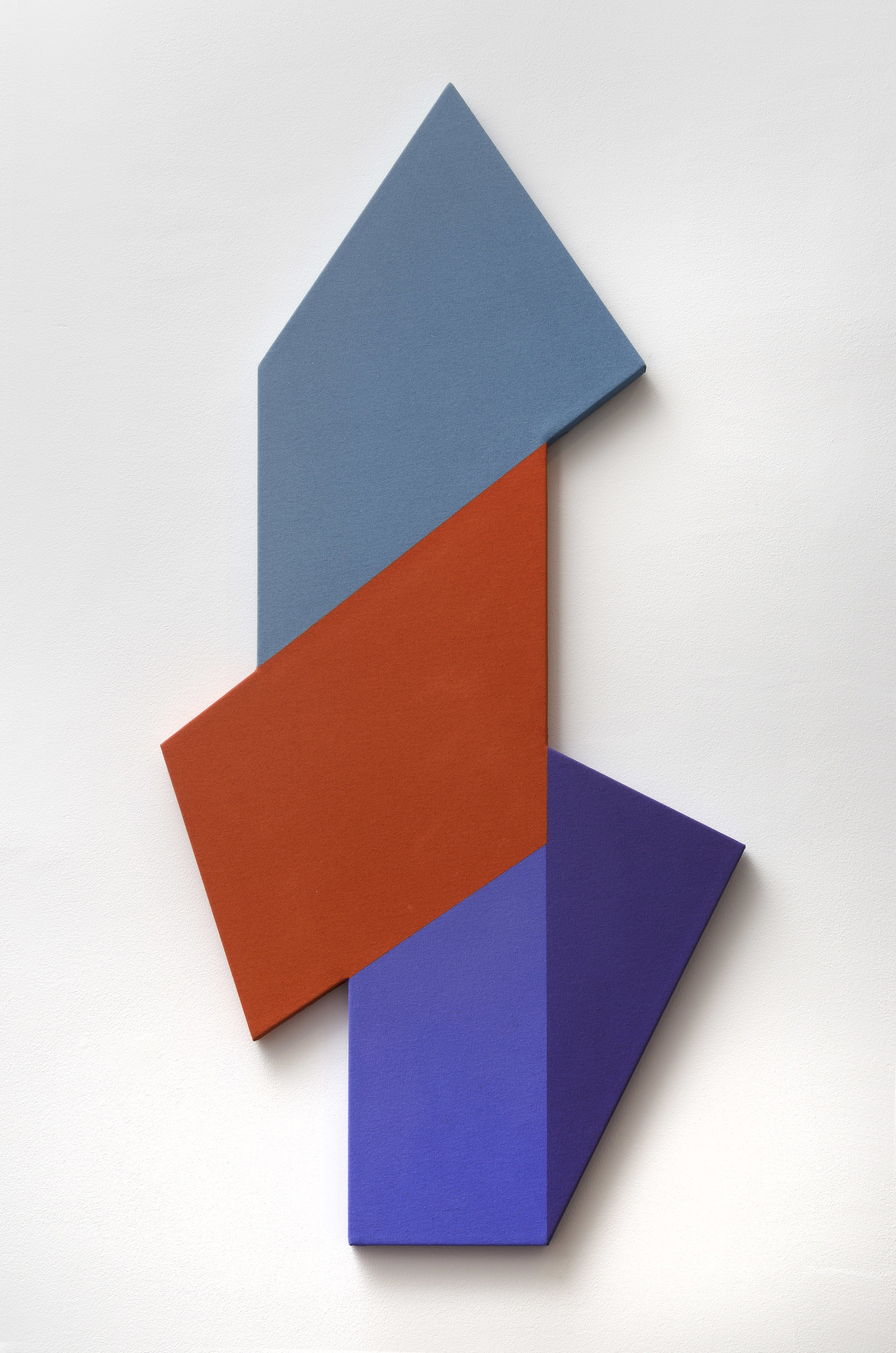 Mokha Laget, b. 1959   Bebop , 2018  acrylic and clay paint on shaped canvas  48 x 24 inches; 121.9 x 61 centimeters