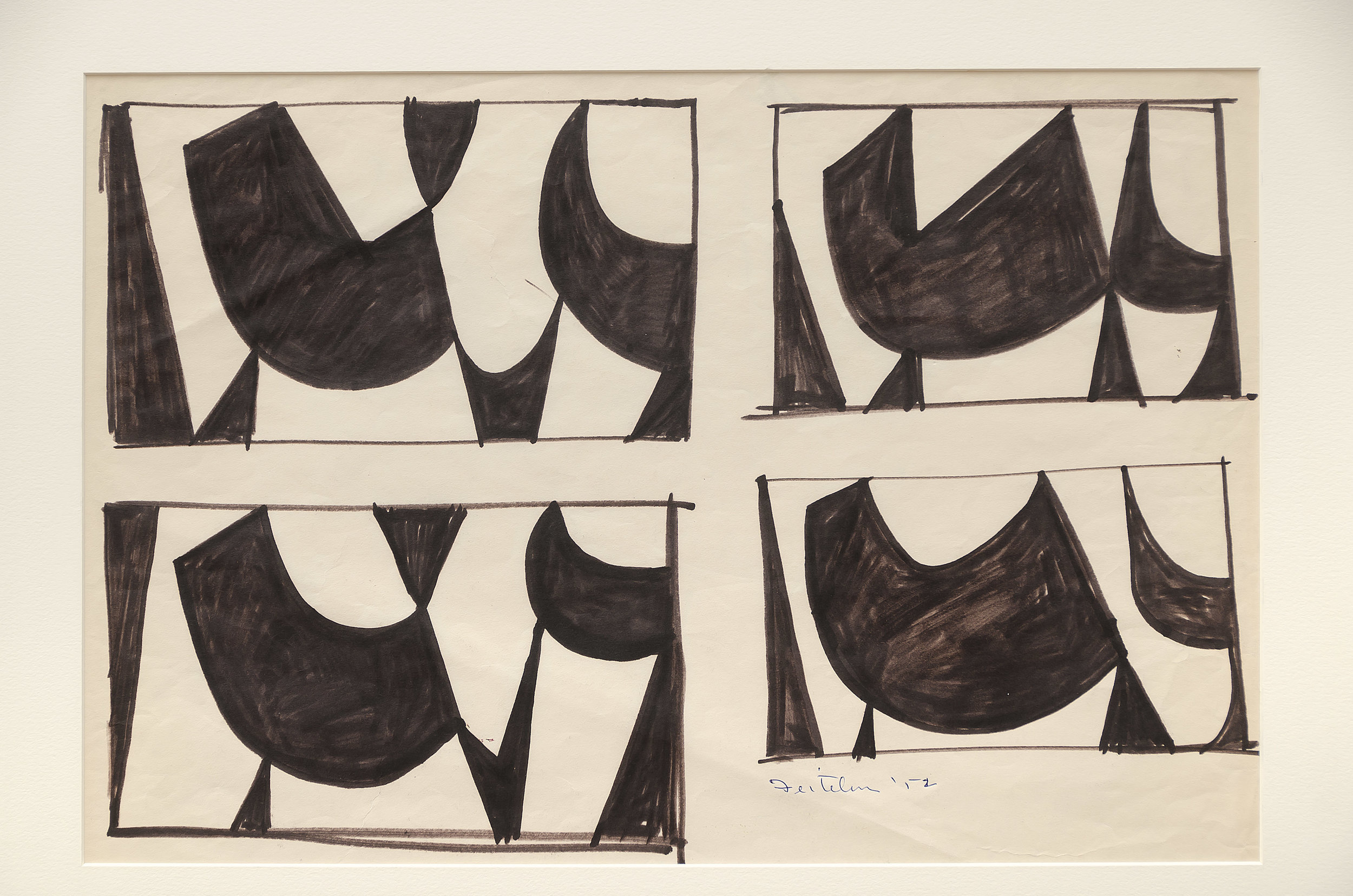 Lorser Feitelson (1898-1978)   Untitled , 1952 marker on paper  12 1/2 x 19 3/8 inches; 31.8 x 49.2 centimeters