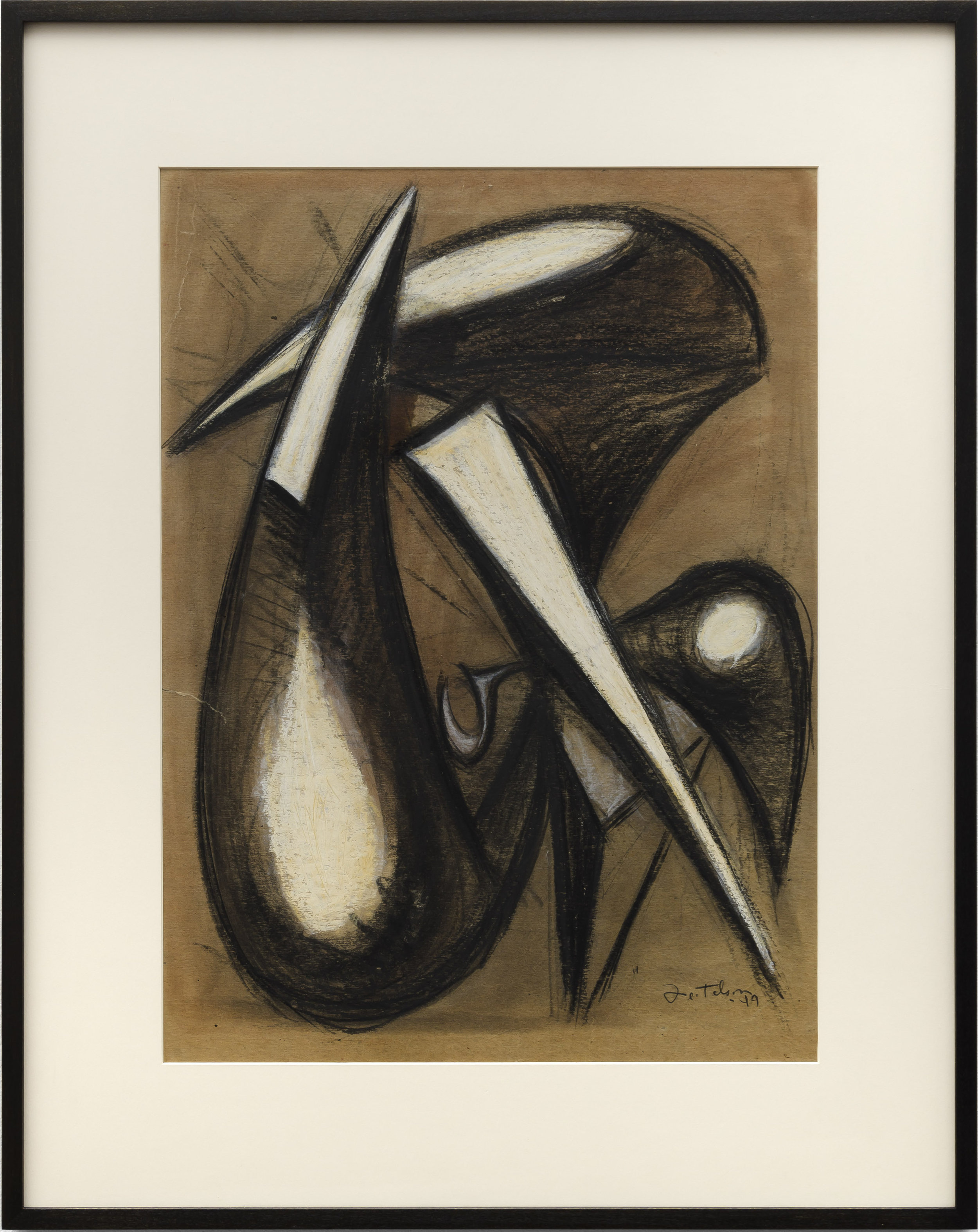 Lorser Feitelson (1898-1978)   Untitled (Magical Forms: Prometheus) , 1949 pastel on cardstock  20 3/4 x 15 1/4 in. (52.7 x 38.7 cm)