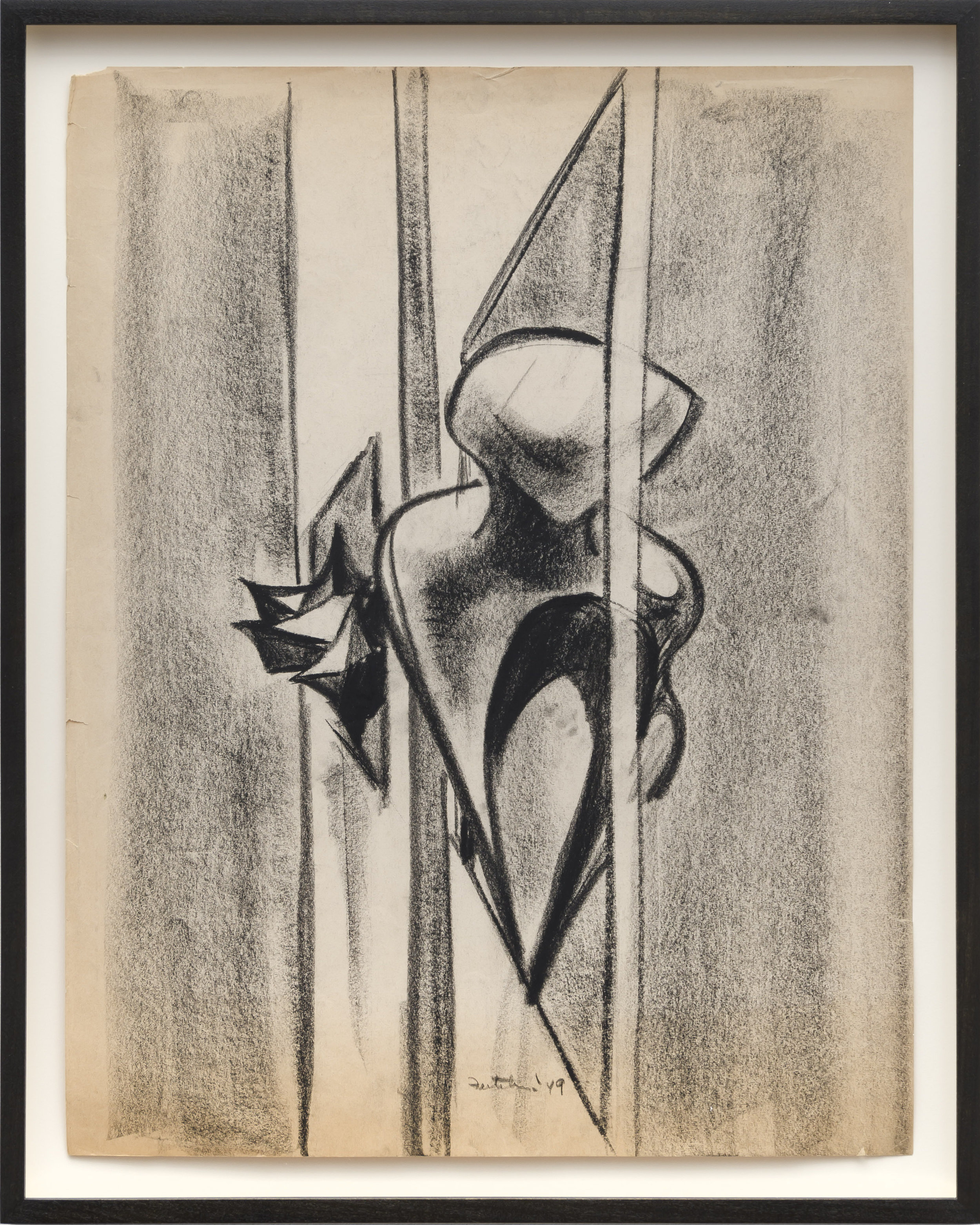 Lorser Feitelson (1898-1978)   Untitled Study , 1949 charcoal on paper  22 x 17 inches; 55.9 x 43.2 centimeters
