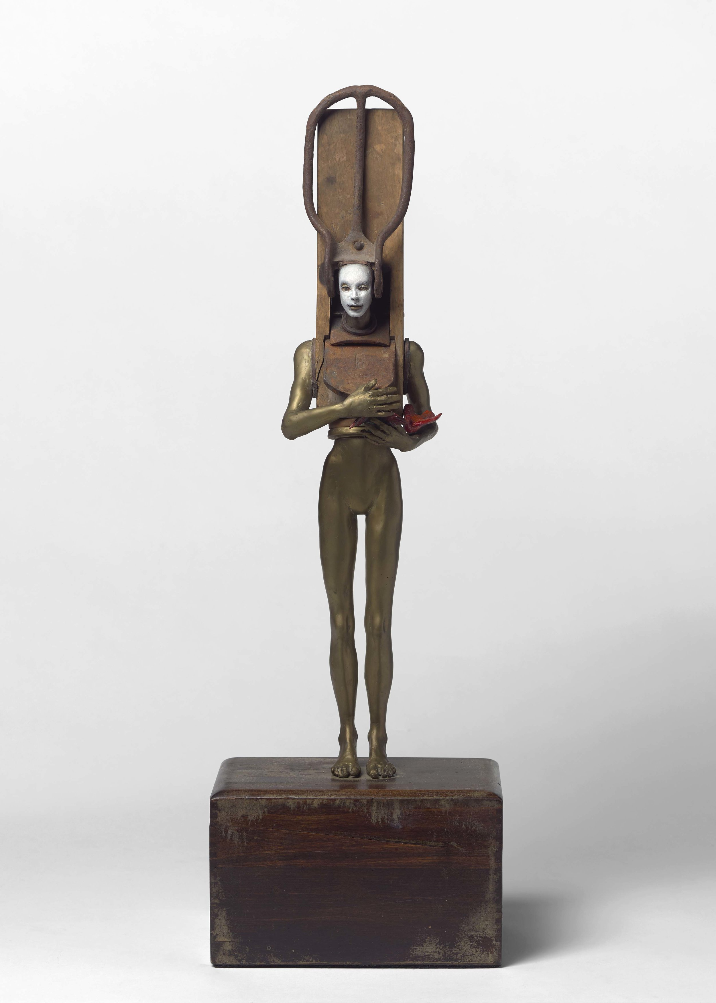The Protector   2011  Bronze, wood, iron  29 x 9 1/2 x 7 inches; 73.7 x 24.1 x 17.8 centimeters