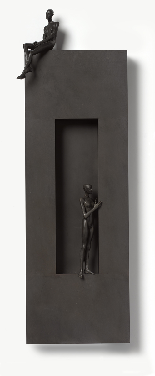 The Return , 2019  bronze and wood  39 x 13 x 4 1/2 inches;  99.1 x 33 x 11.4 centimeters   SOLD