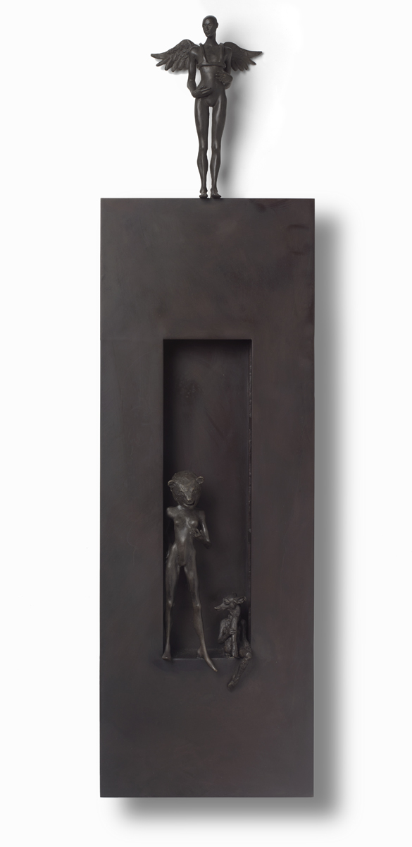 Foreign Language , 2019  bronze and wood  45 x 12 x 3 inches;  114.3 x 30.5 x 7.6 centimeters   SOLD