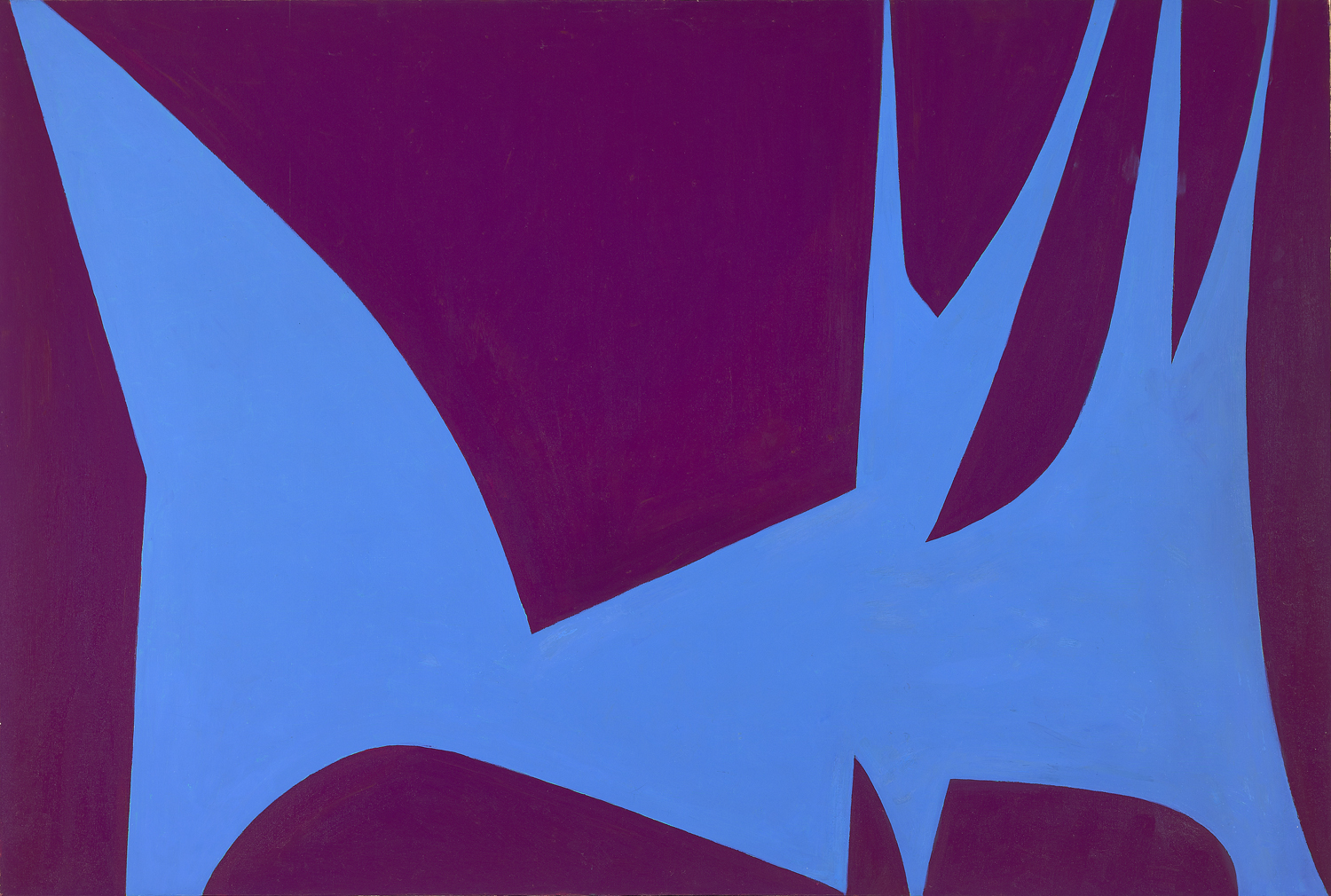 Lorser Feitelson (1898 - 1978)   Magical Space Forms , 1951 oil on canvas 50 x 74 inches; 127 x 188 centimeters