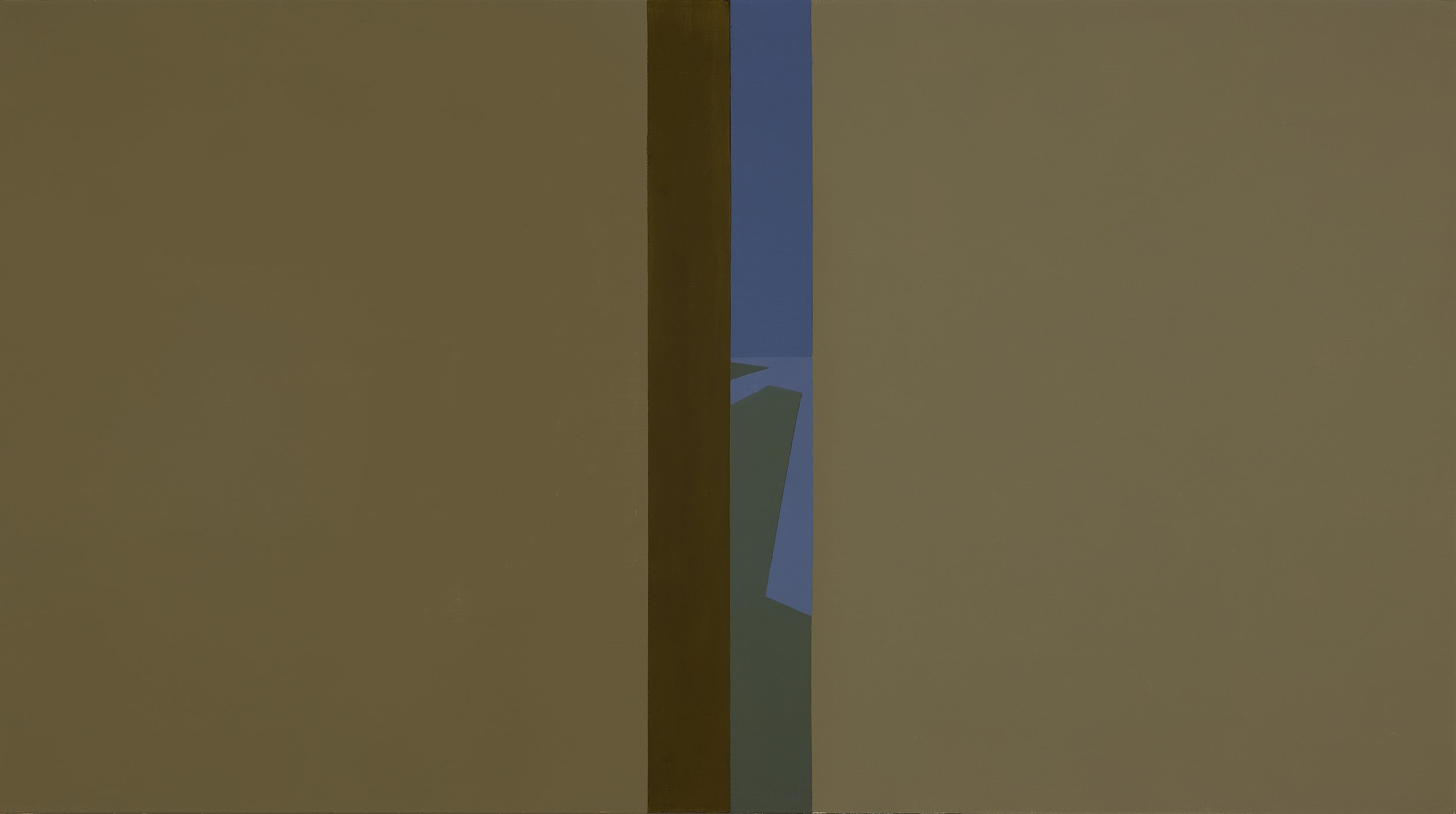 Narrow View , 1961  oil on canvas 30 x 54 inches; 76.2 x 137.2 centimeters  $60,000