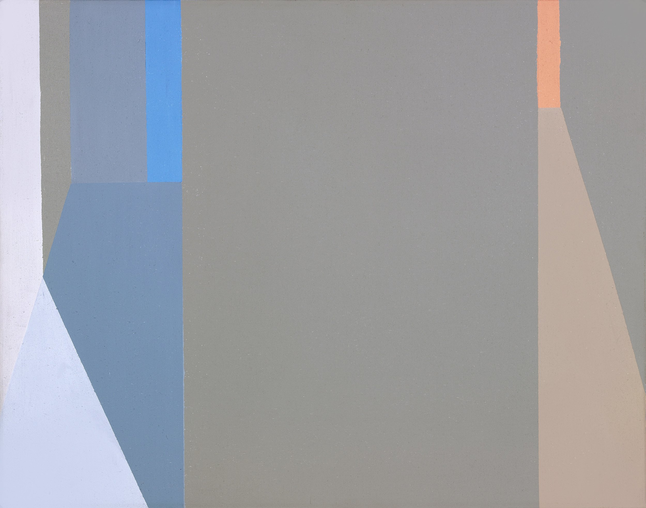 Untitled (Evening Lights and Shadows) , 1975  acrylic on canvas 14 x 18 inches; 35.6 x 45.7 centimeters  $25,000