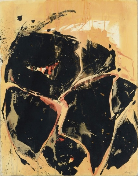 Yellow-Orange-Black , 1960  sumi ink and watercolor on Strathmore paper 29 x 22 7/8 inches; 73.7 x 58.1 centimeters  $10,000