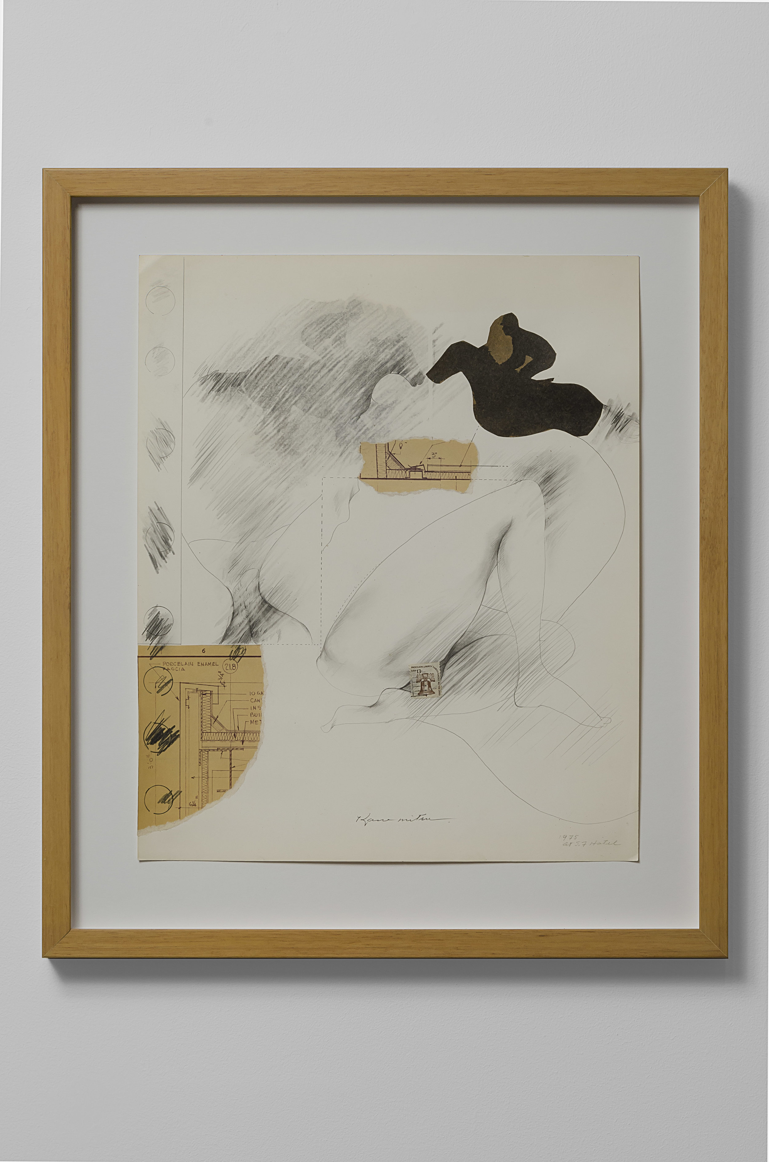 Untitled , 1975  paper collage and graphite on paper 17 x 14 inches; 43.2 x 35.6 centimeters  $7,500