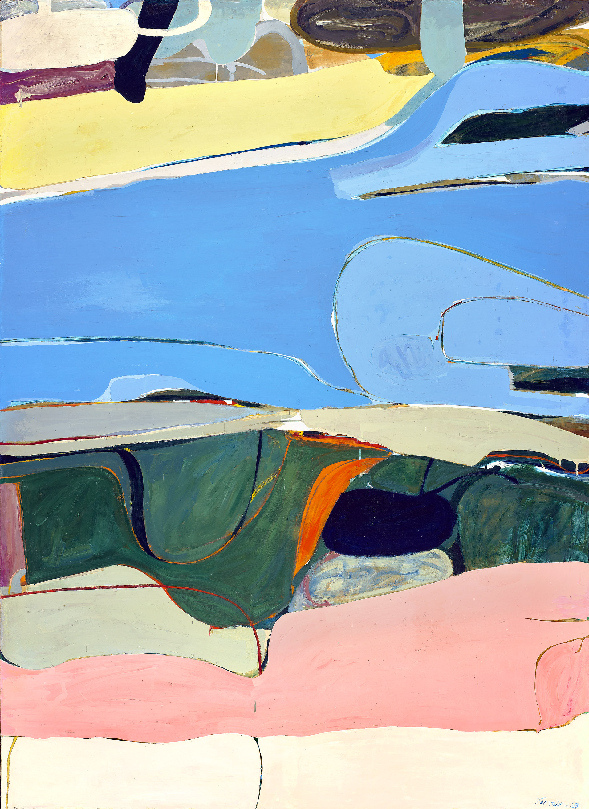 James Jarvaise   Hudson River Series , 1959 oil on canvas 79 1/2 x 58 1/2 inches; 201.9 x 148.6 centimeters