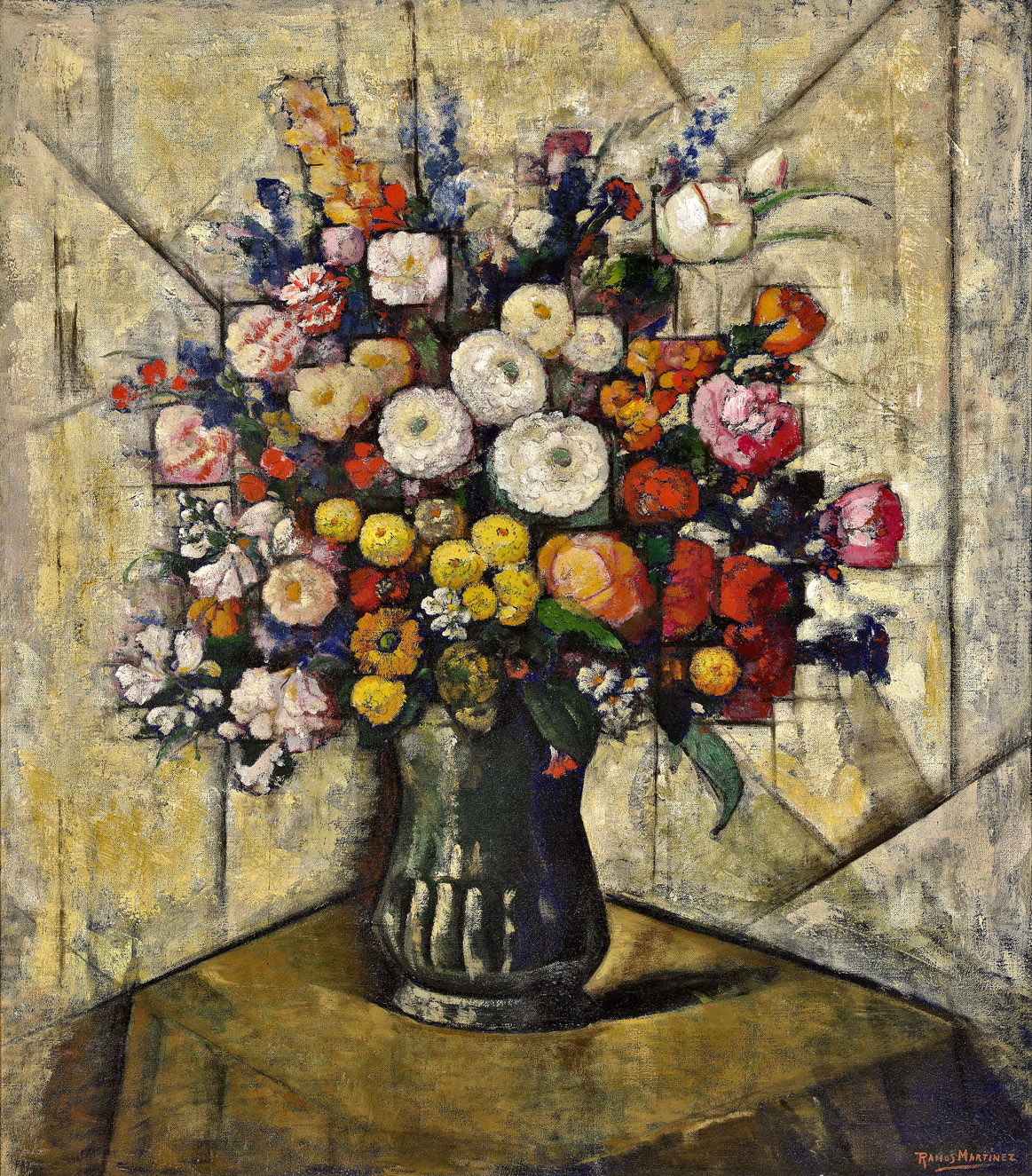 Alfredo Ramos Martinez (1871 - 1946)   Flores en cristal , c. 1930 oil on canvas 32 x 28 inches; 81.3 x 71.1 centimeters