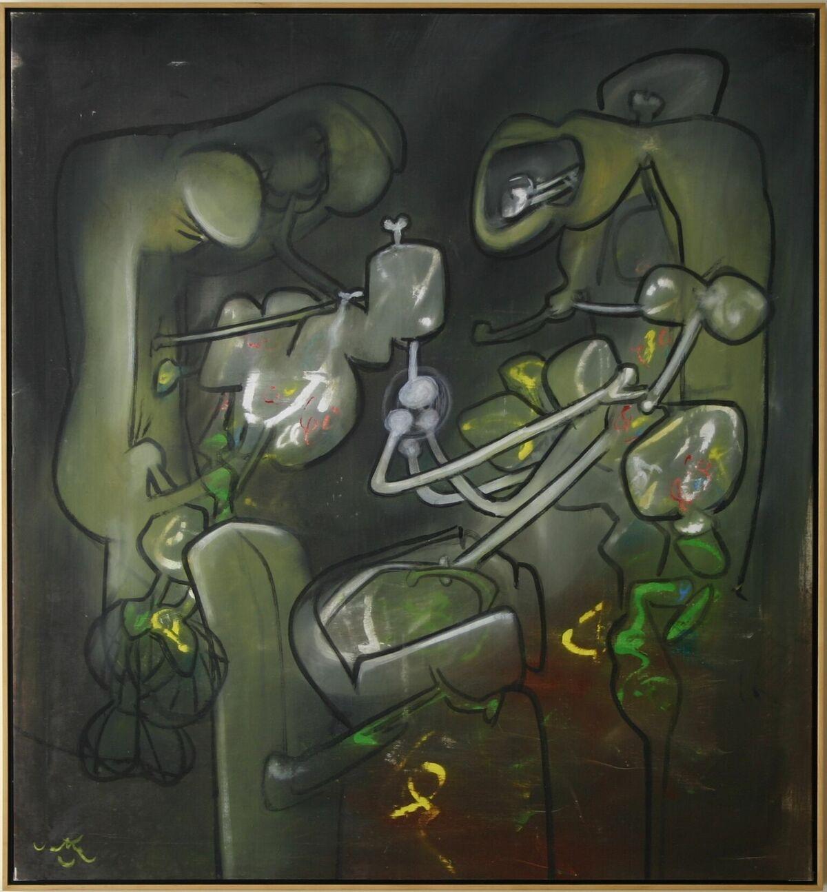 Roberto Matta (1911-2002)   Flash of Flesh , 1971  Oil on canvas 53 x 49 inches; 134.6 x 124.5 centimeters