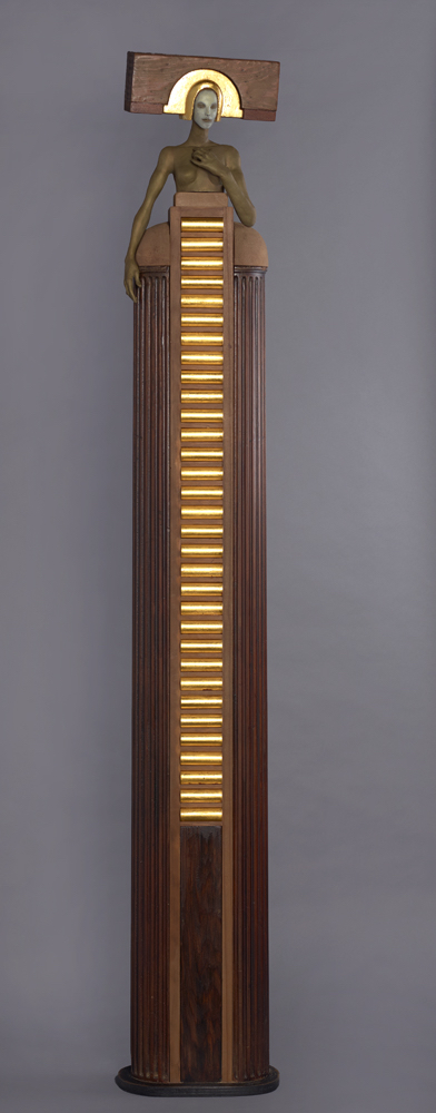 Cecilia Z. Miguez (b. 1955)   Private Eye , 2015  bronze, wood, and glass 78 x 13 1/4 x 9 1/2 inches; 198.1 x 33.7 x 24.1 centimeters