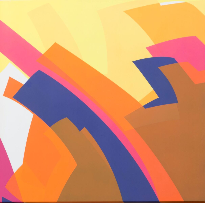 Manuel Ojeda (b. 1968)   Violeta 3/02 , 2016  urethane paint on aluminum 23 5/8 x 23 5/8 inches; 60 x 60 centimeters