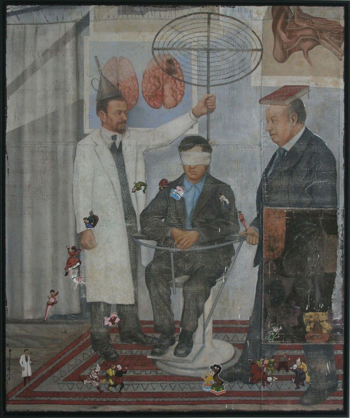 Armando Romero (b. 1964)   Provider of Dreams , 2007  oil on canvas 70 3/4 x 55 inches; 179.7 x 139.7 centimeters