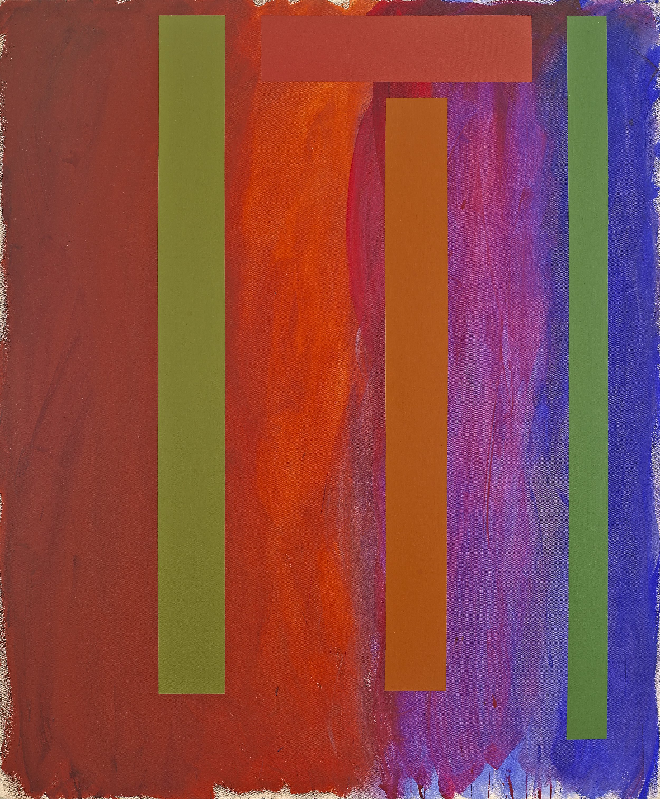 Doug Ohlson  (1936-2010)  Seton , 1988 acrylic on canvas 72 x 60 inches; 182.9 x 152.4 centimeters