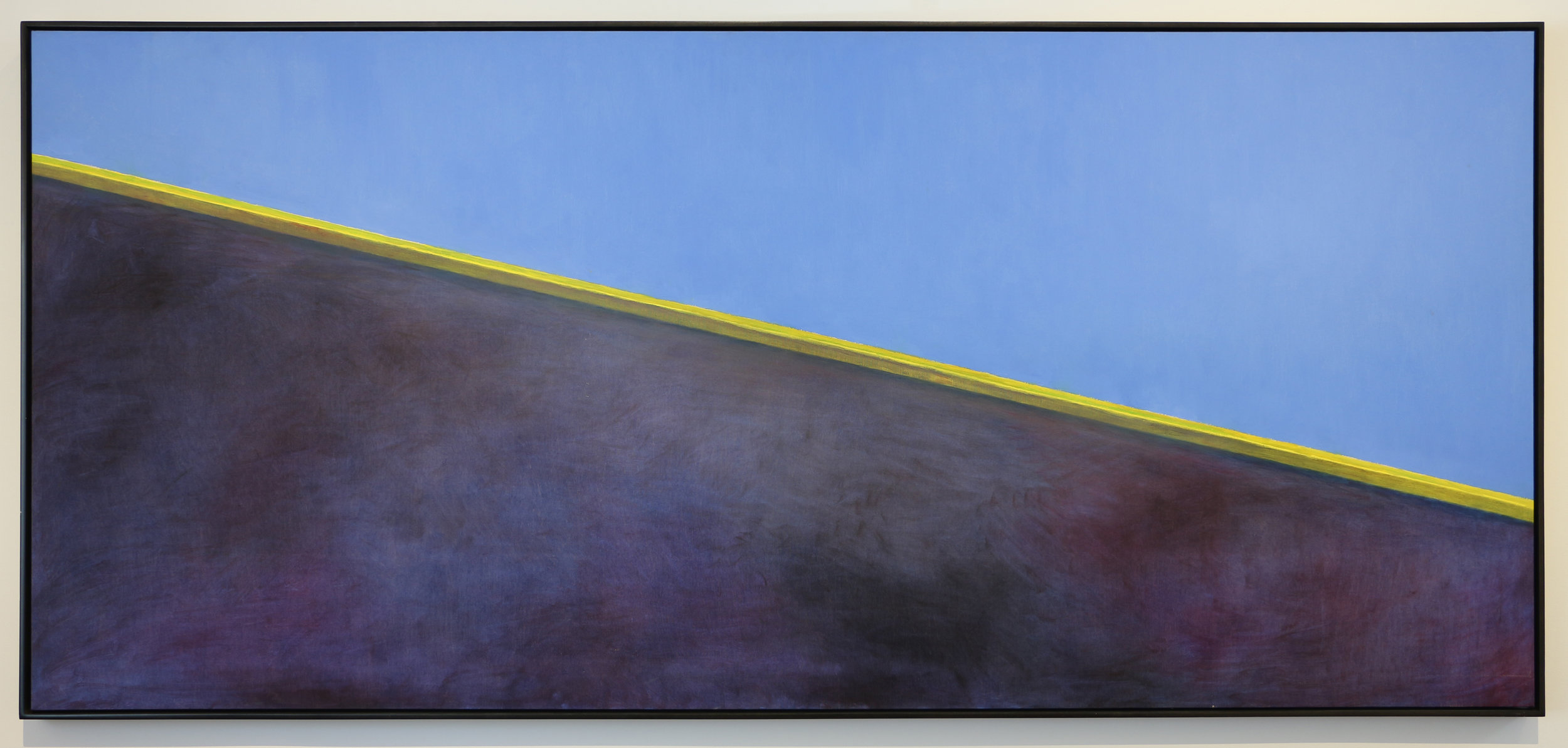 Frederick Wight  (1902-1986)  Day, Night, Summer, Winter , 1979 oil on canvas 43 x 95 inches; 109.2 x 241.3 centimeters