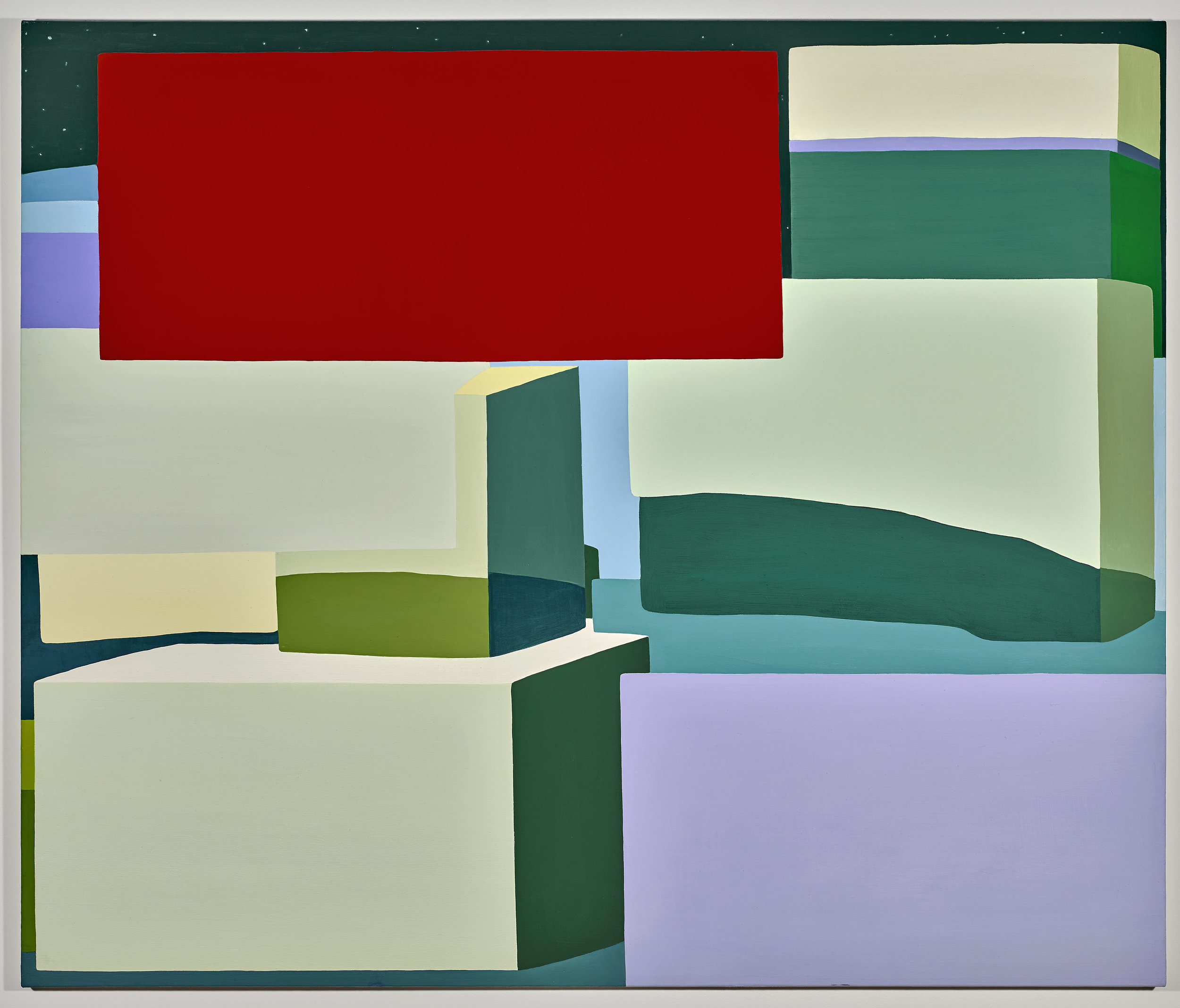 Louise Belcourt   HedgeLand Painting #19 , 2010 oil on canvas 57 x 67 inches; 144.8 x 170.2