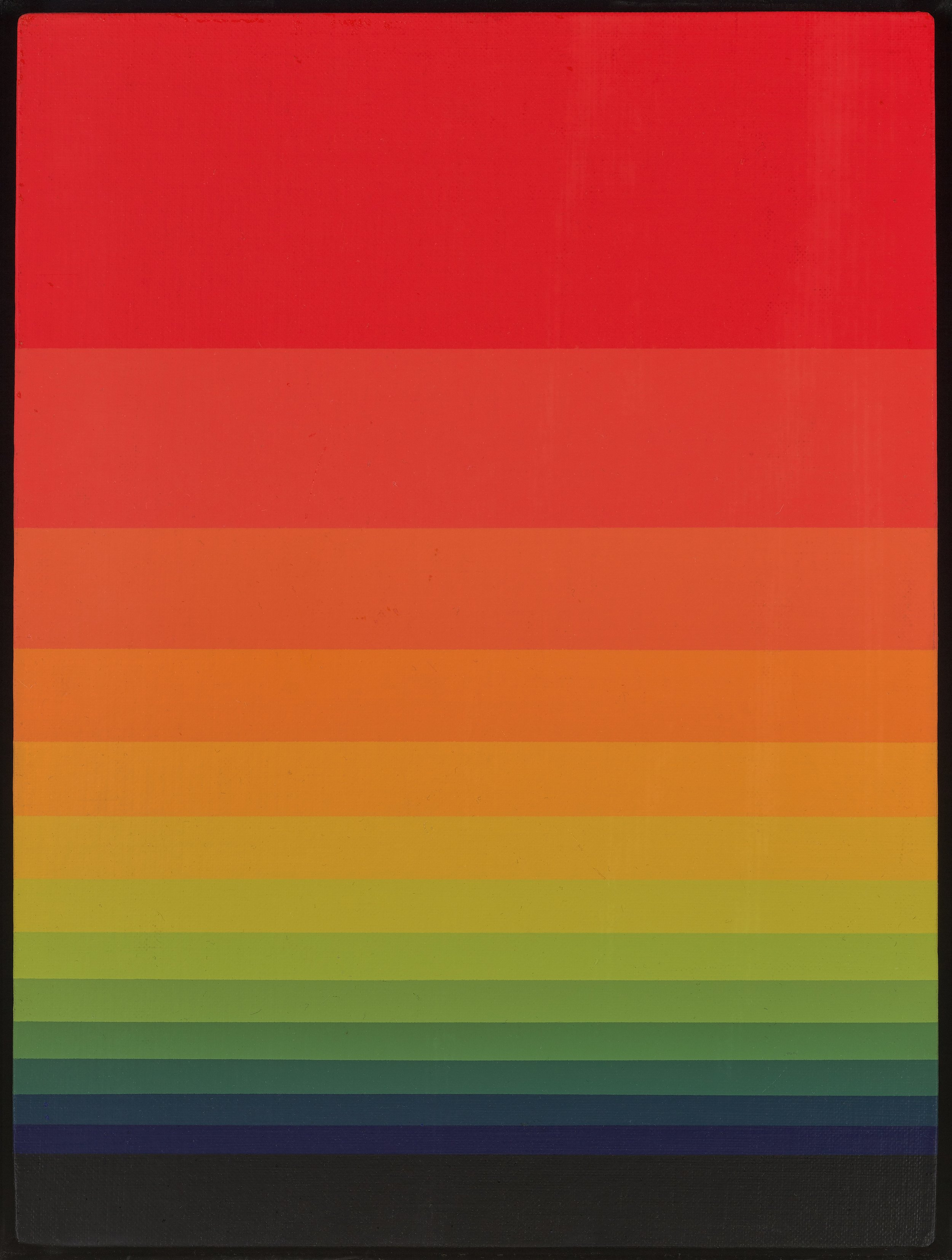 Norman Zammitt  (1931-2007)  Red, Green, Blue , 1975 acrylic on canvas board 16 x 12 inches; 40.6 x 30.5 centimeters