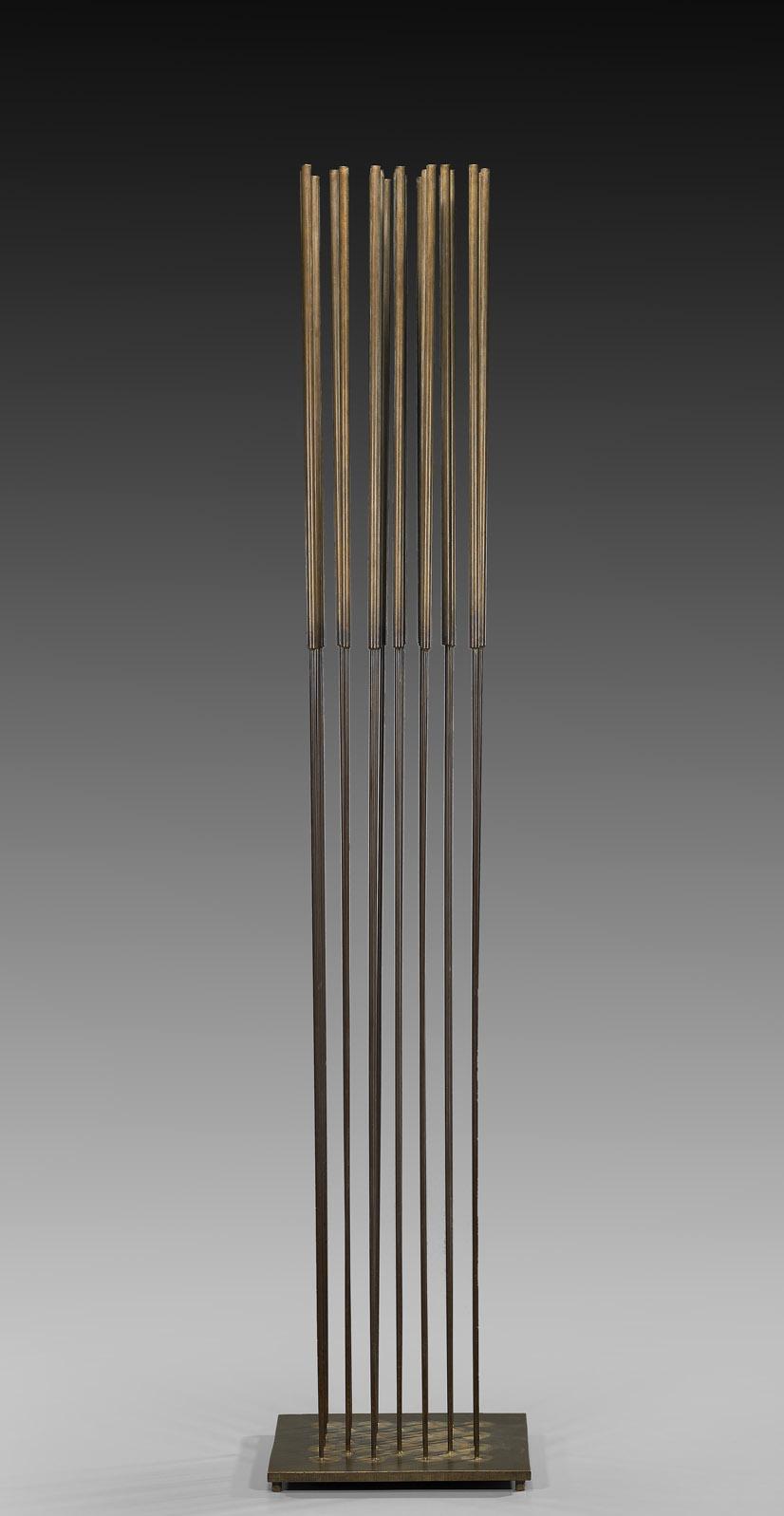 Sonambient , circa 1970  beryllium copper and brass  50 x 10 x 10 inches; 127 x 25.4 x 25.4 centimeters