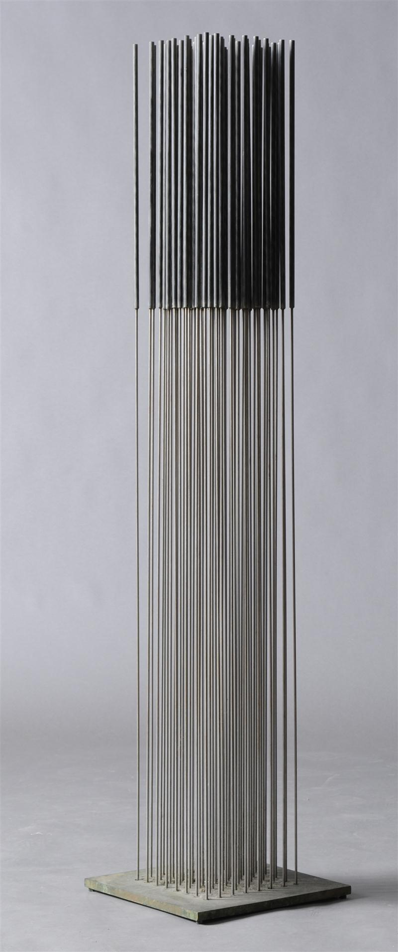 Sonambient , 1978/79  steel with bronze base  52 x 11 3/4 x 11 3/4; 132 x 30 x 30 centimeters