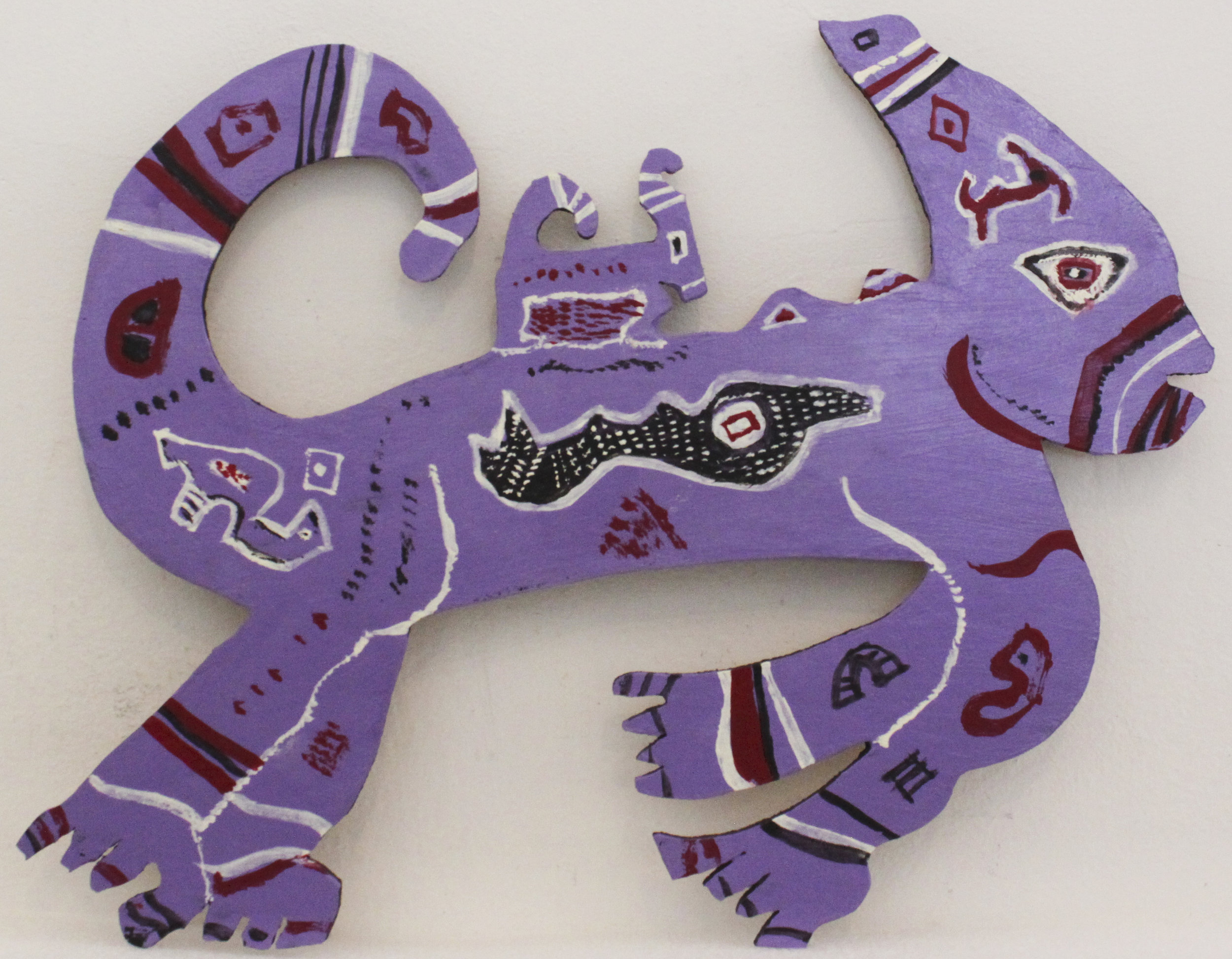 Untitled (Purple Creature)   mixed media  10 x 12 1/2 inches; 25.4 x 31.8 centimeters