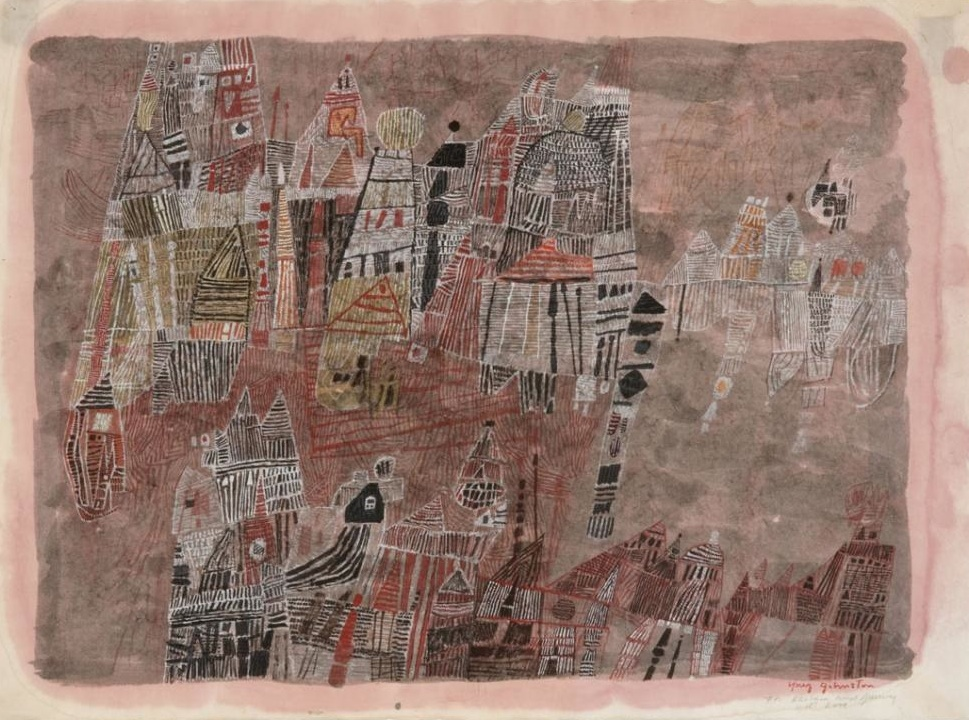 Untitled Composition , circa 1960s  watercolor on paper  21 1/2 x 29 inches; 54.6 x 73.7 centimeters