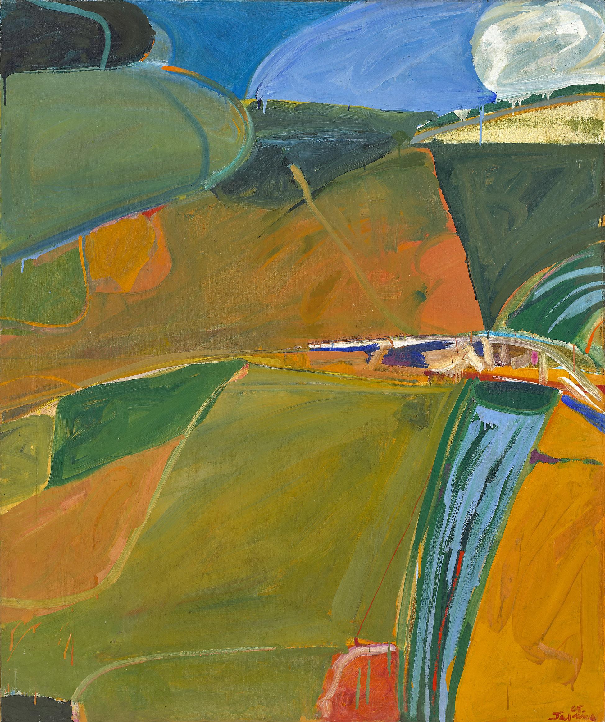 Hudson River Series (The Bridge to Alcazar) , 1965 oil on canvas 61 x 51 1/2 inches; 154.9 x 130.8 centimeters