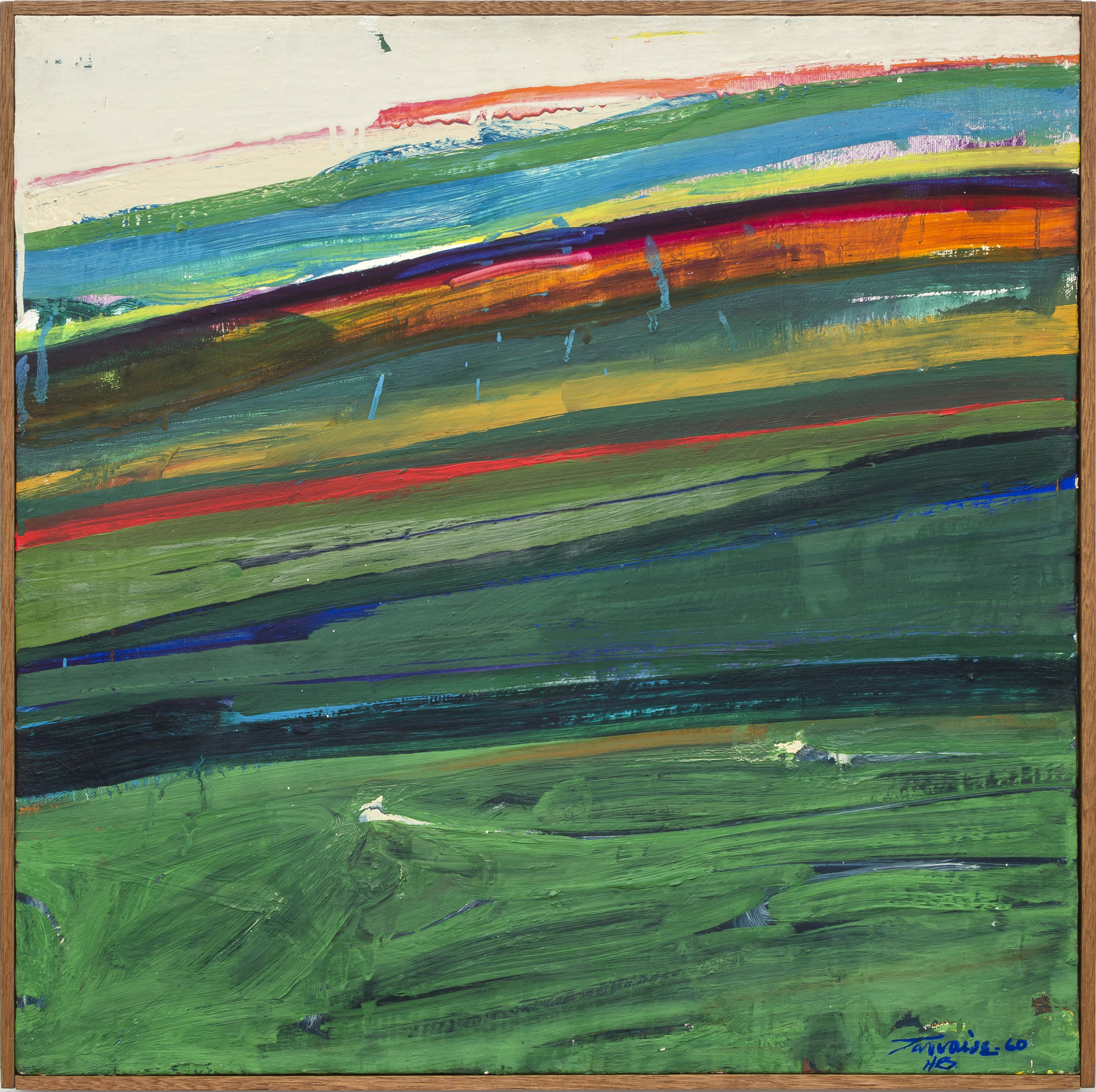 Hudson River Series #G2 , 1960 oil on canvas 24 x 24 inches; 61 x 61 centimeters