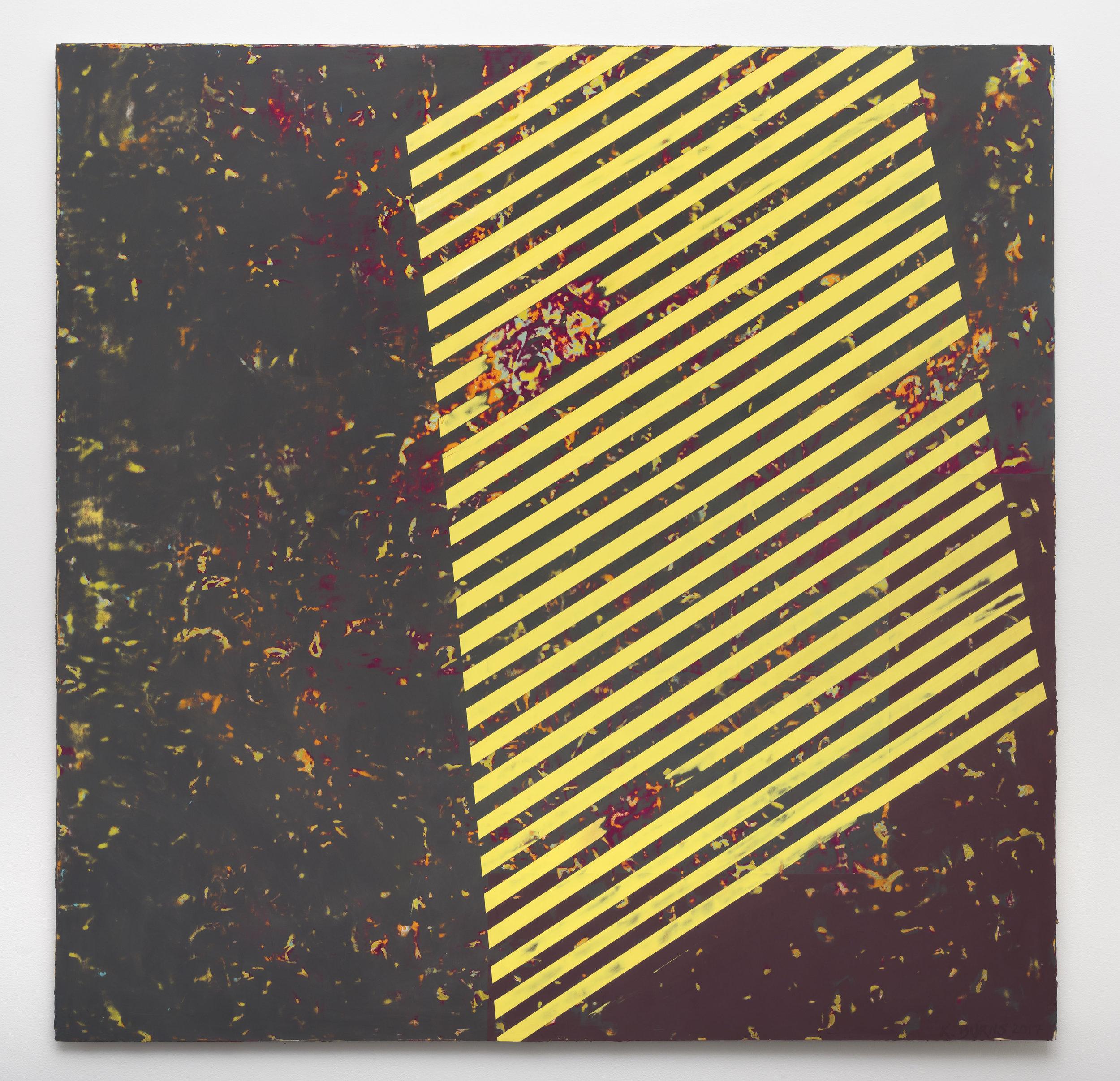 8:01 PM 6/11/17 , 2017 oil on Alu-DiBond 60 x 60 inches; 152.4 x 152.4 centimeters