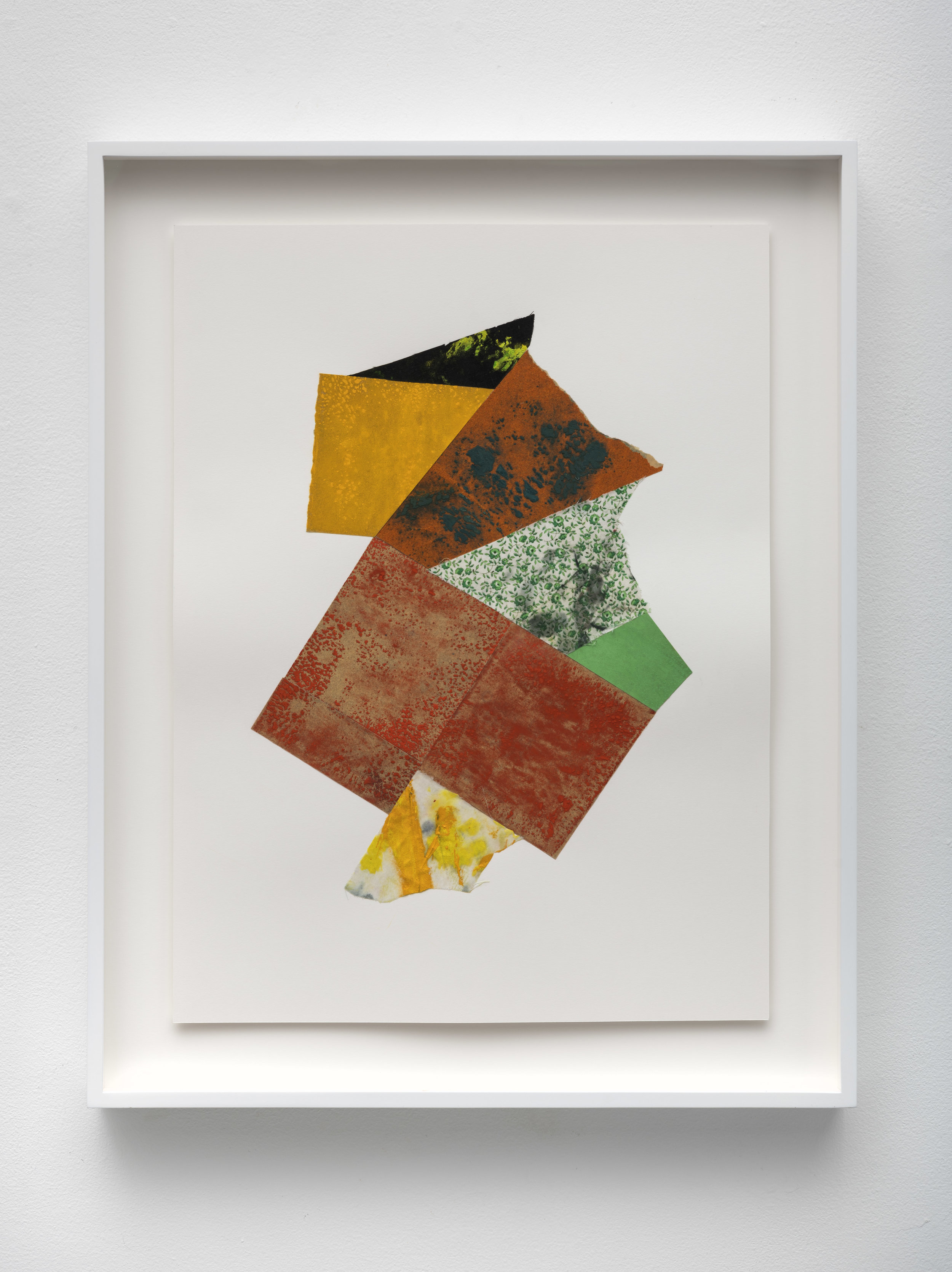 Structure V , 2019 sandpaper and dried pigment/painting rags on board 20 x 15 inches; 50.8 x 38.1 centimeters