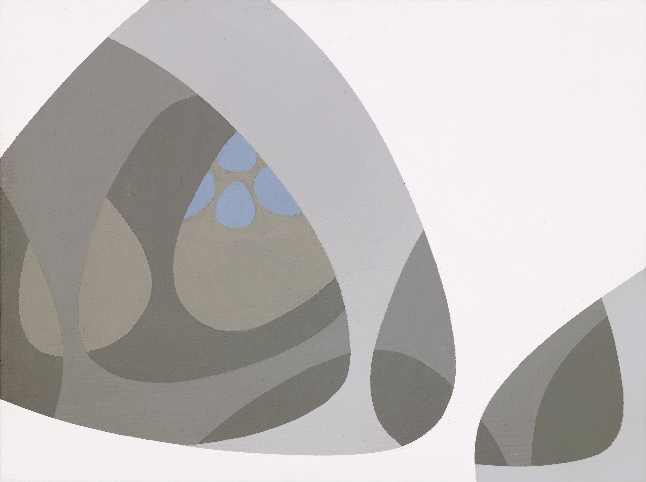 Untitled (Arcane Forms), 1970 acrylic on canvas 12 x 16 inches; 30.5 x 40.6 centimeters