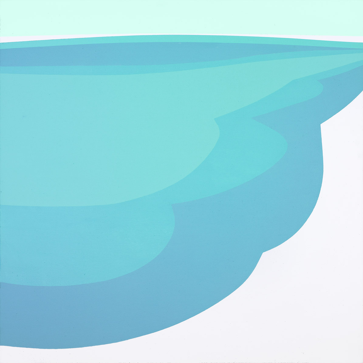 Sea , 1970 acrylic on canvas 30 x 30 inches; 76.2 x 76.2 centimeters