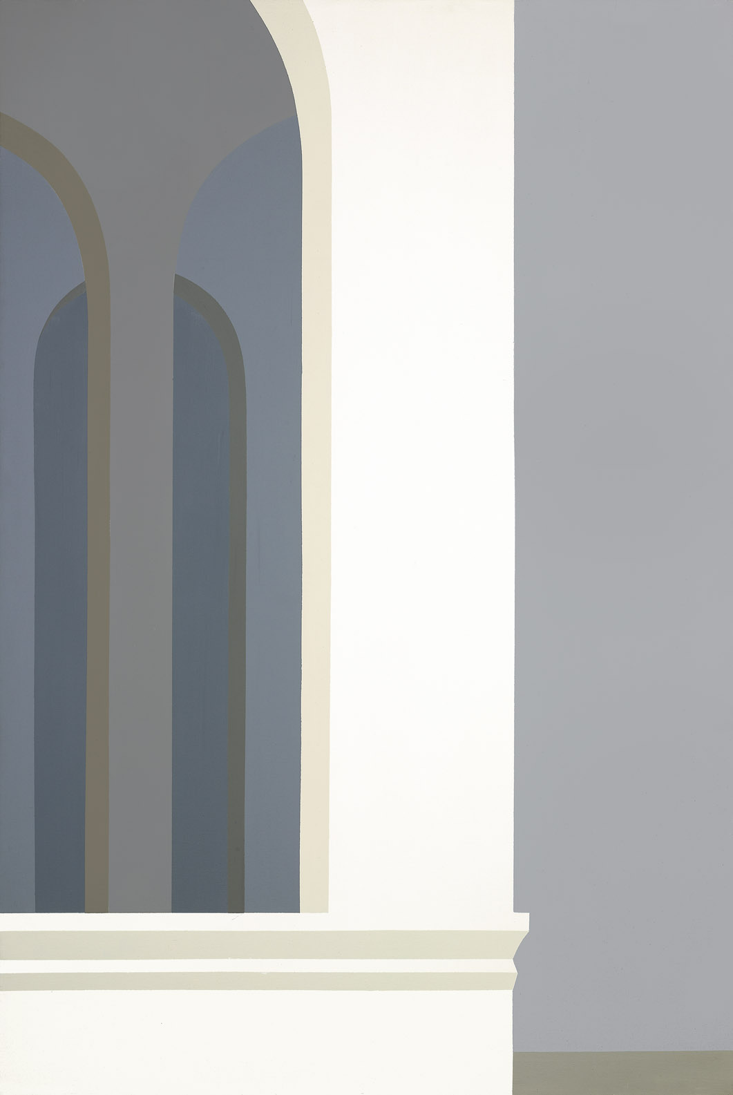Untitled (Classic Landscape, March) , 1973 acrylic on canvas 60 x 40 inches; 152.4 x 101.6 centimeters