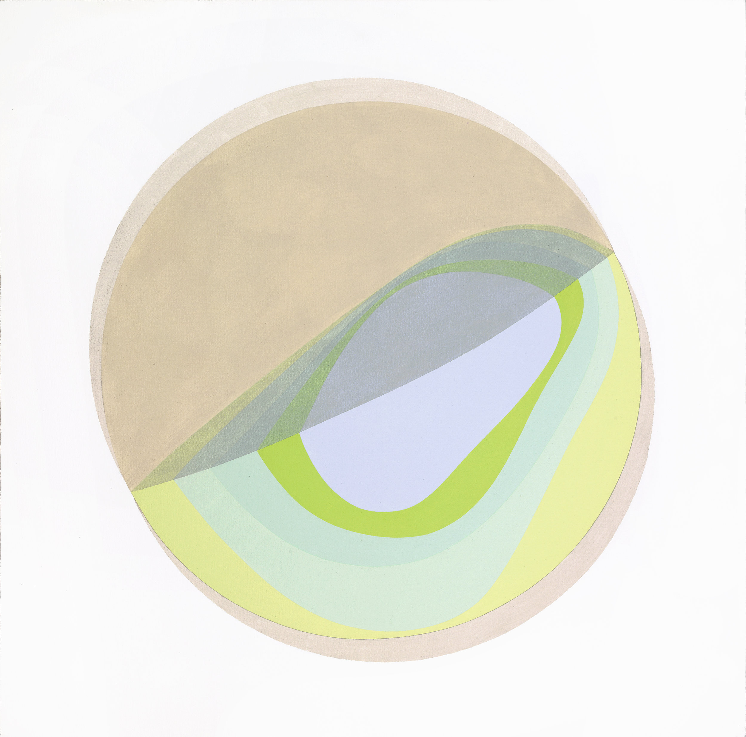 Untitled (Sectioned Planet) , 1969 acrylic on canvas 36 x 36 inches; 91.4 x 91.4 centimeters