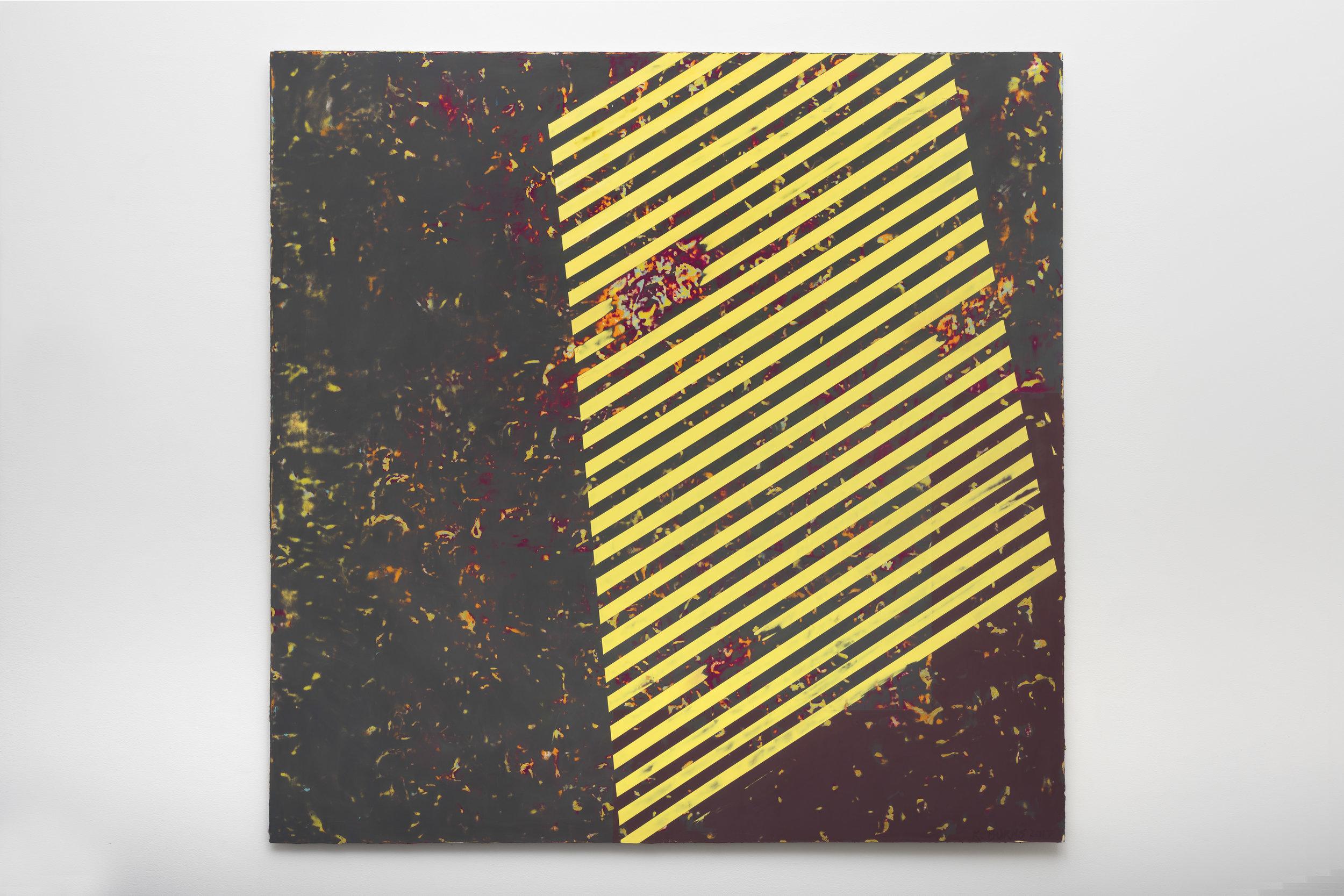 8:01 PM 6/11/17 , 2017  oil on Alu-DiBond 60 x 60 inches; 152.4 x 152.4 centimeters  $20,000.00