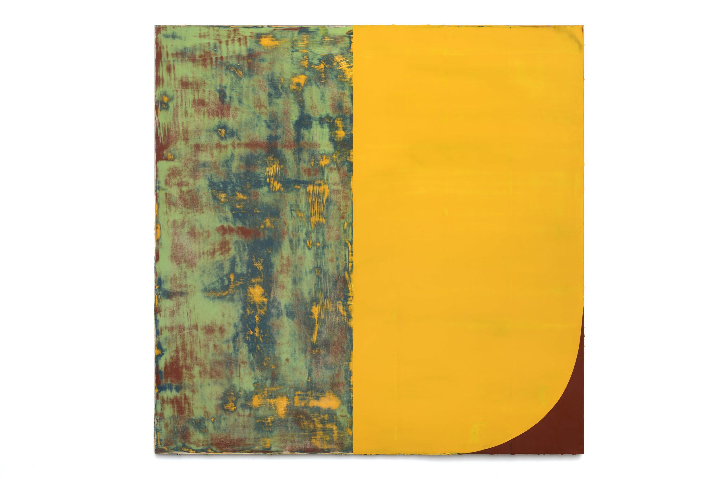 12:20 PM 5/11/17 , 2017  oil on Alu-DiBond 60 x 60 inches; 152.4 x 152.4 centimeters  $20,000.00