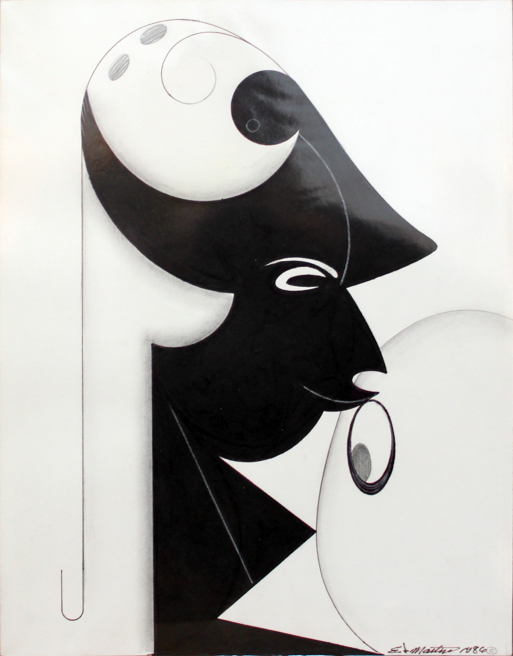 Untitled , 1986 pen, ink and graphite 13 3/4 x 10 3/4 inches; 34.9 x 27.3 centimeters
