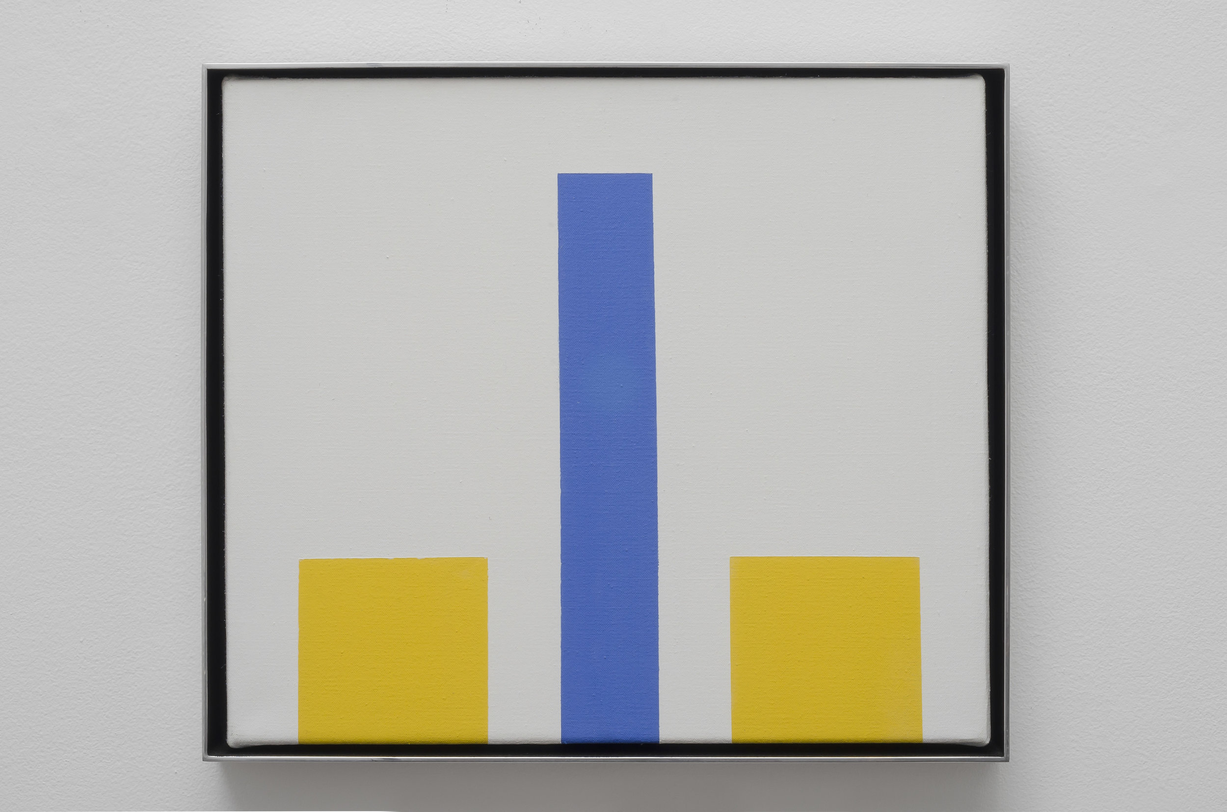Untitled Geometric Abstraction, 1964  magna on canvas 14 x 15 3/4 inches; 35.6 x 40 centimeters